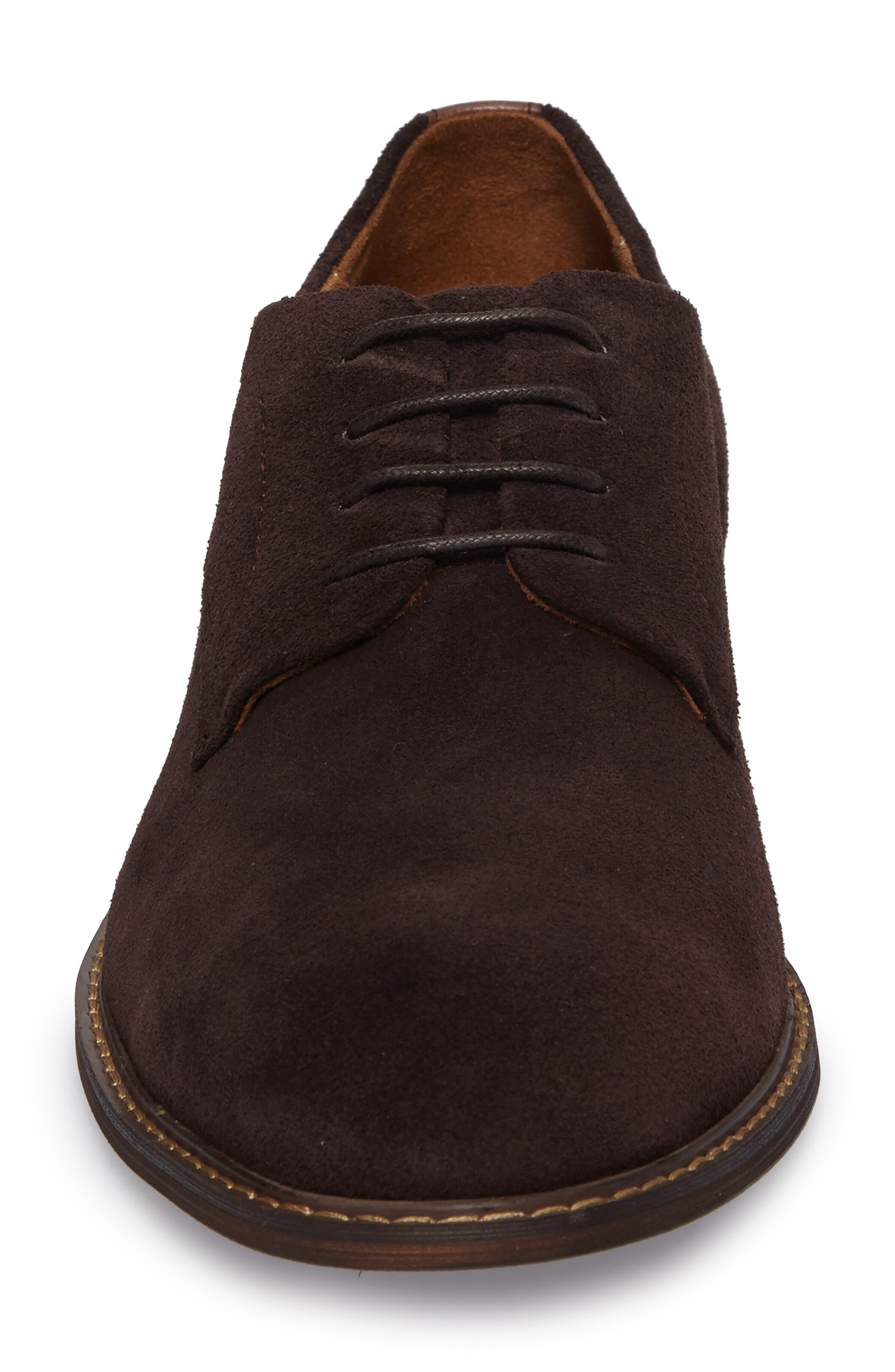 Buck Shoe,                             Alternate thumbnail 4, color,                             Chocolate Suede