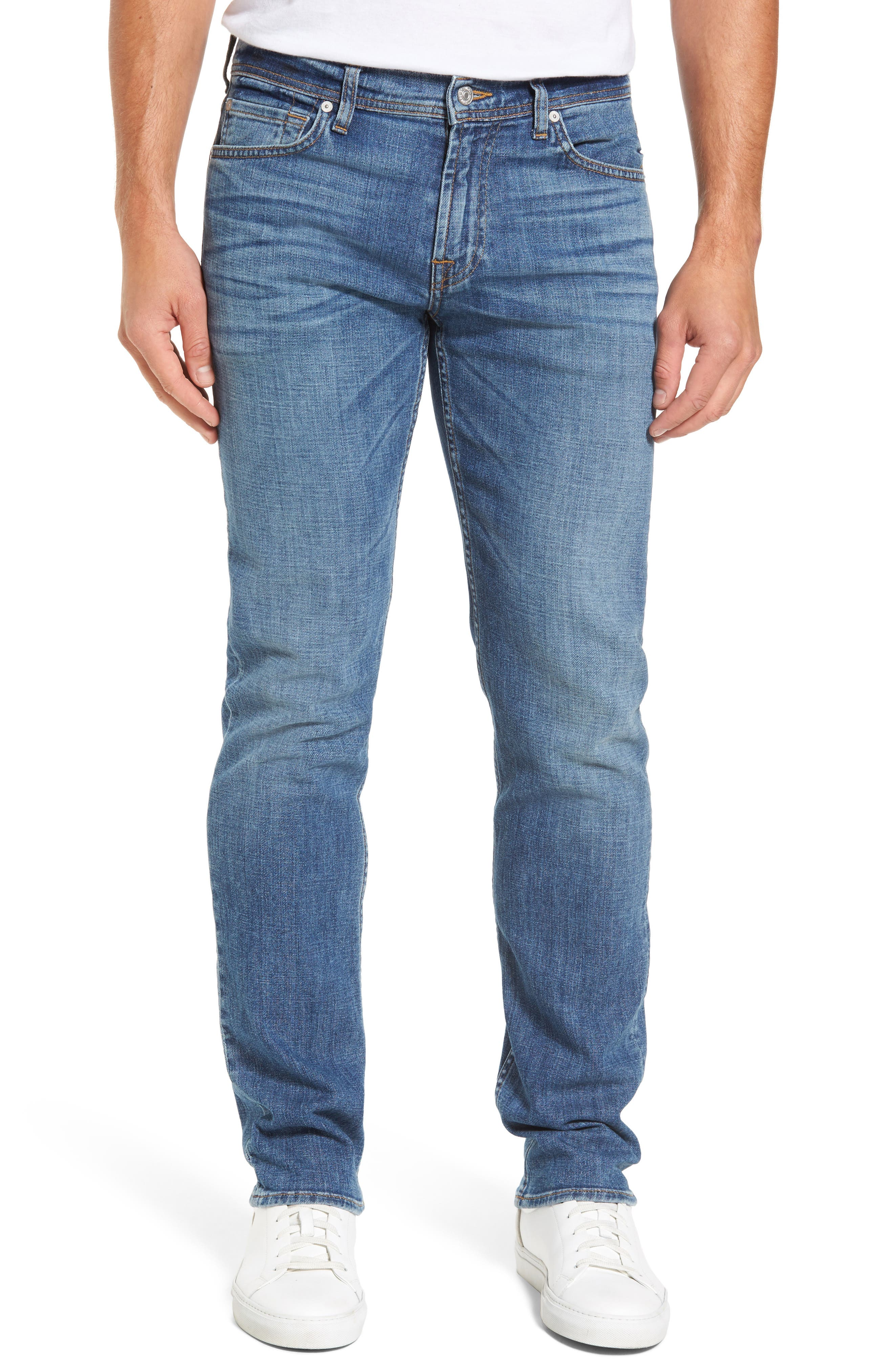 Main Image - 7 For All Mankind® The Standard Straight Fit Jeans (Robinson)