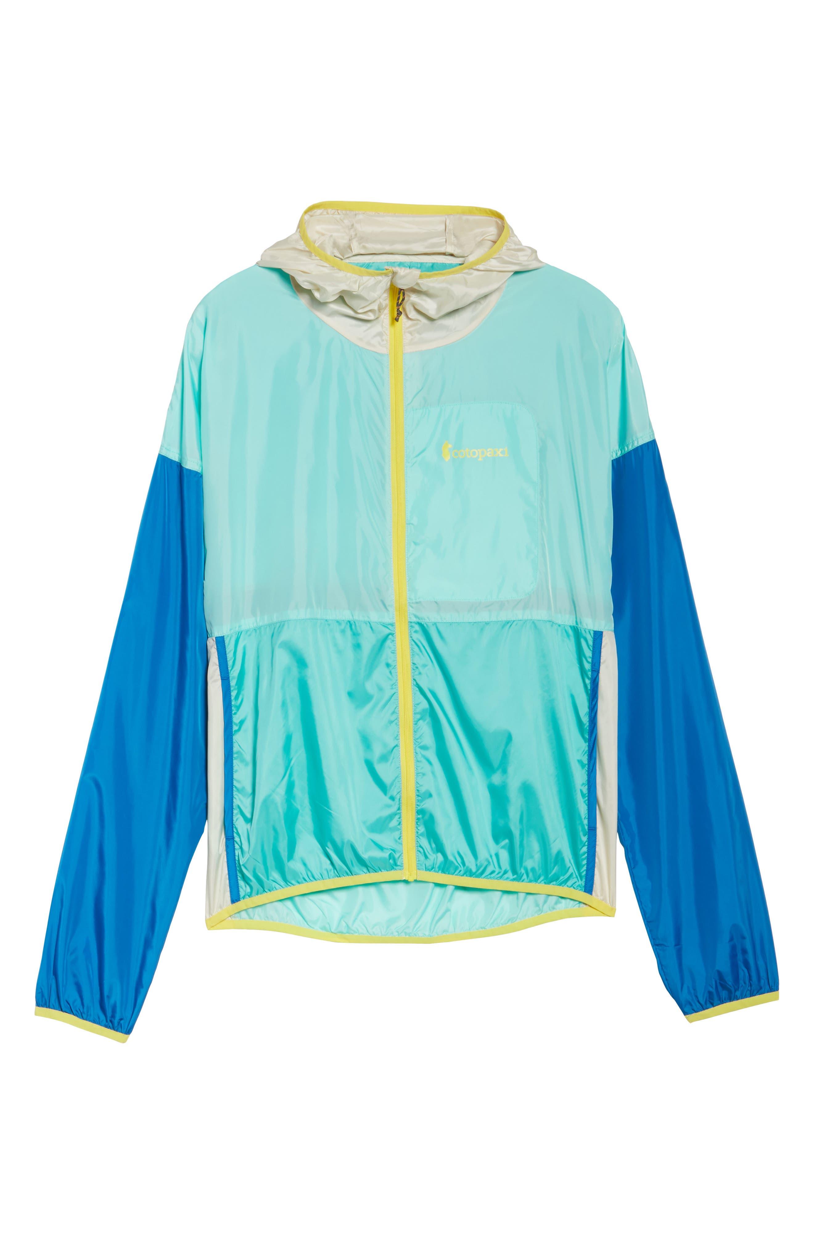 Teca Packable Water Resistant Windbreaker Jacket,                             Alternate thumbnail 7, color,                             Blue Crush