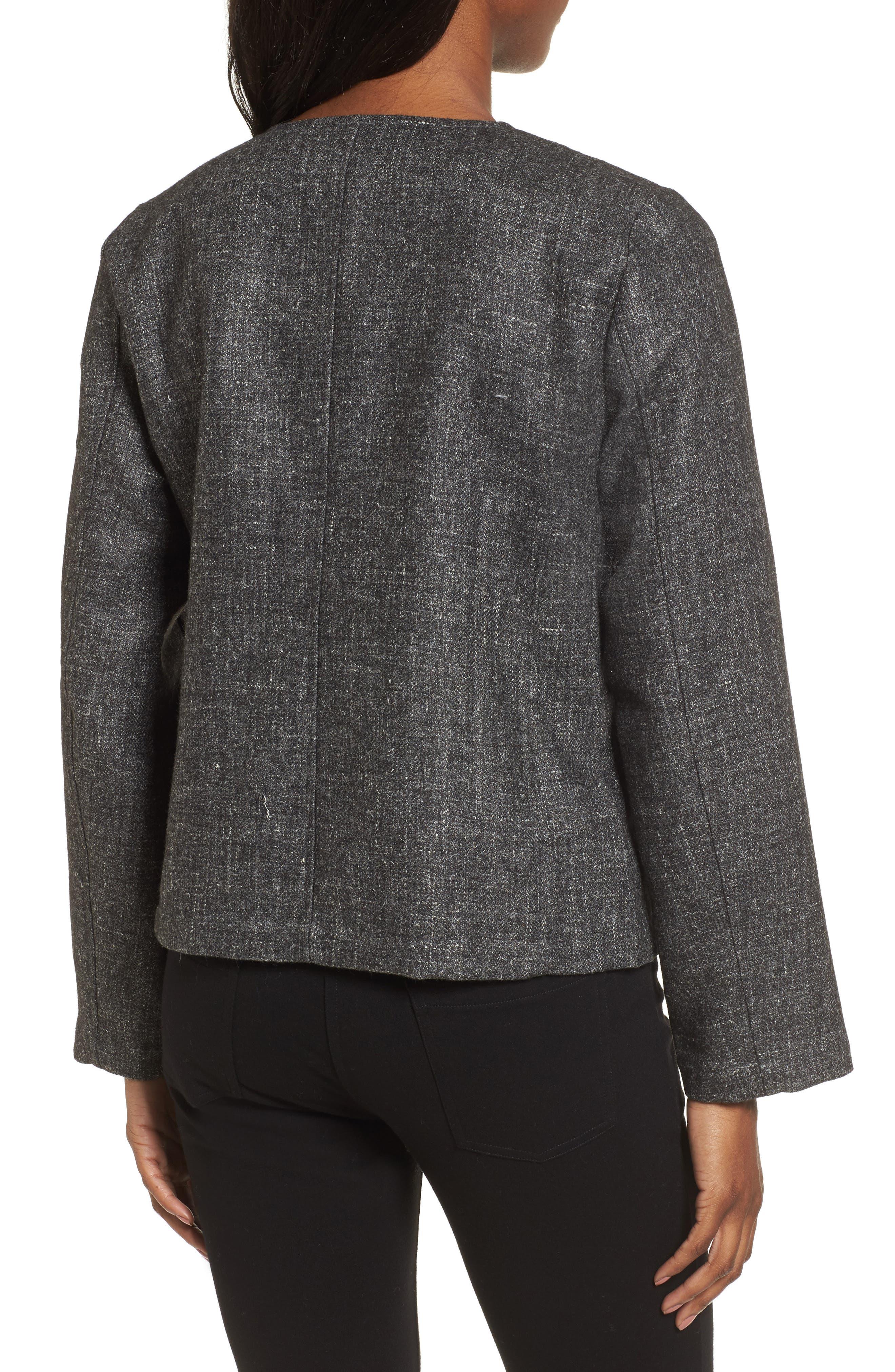 Tweed Jacket,                             Alternate thumbnail 2, color,                             Charcoal