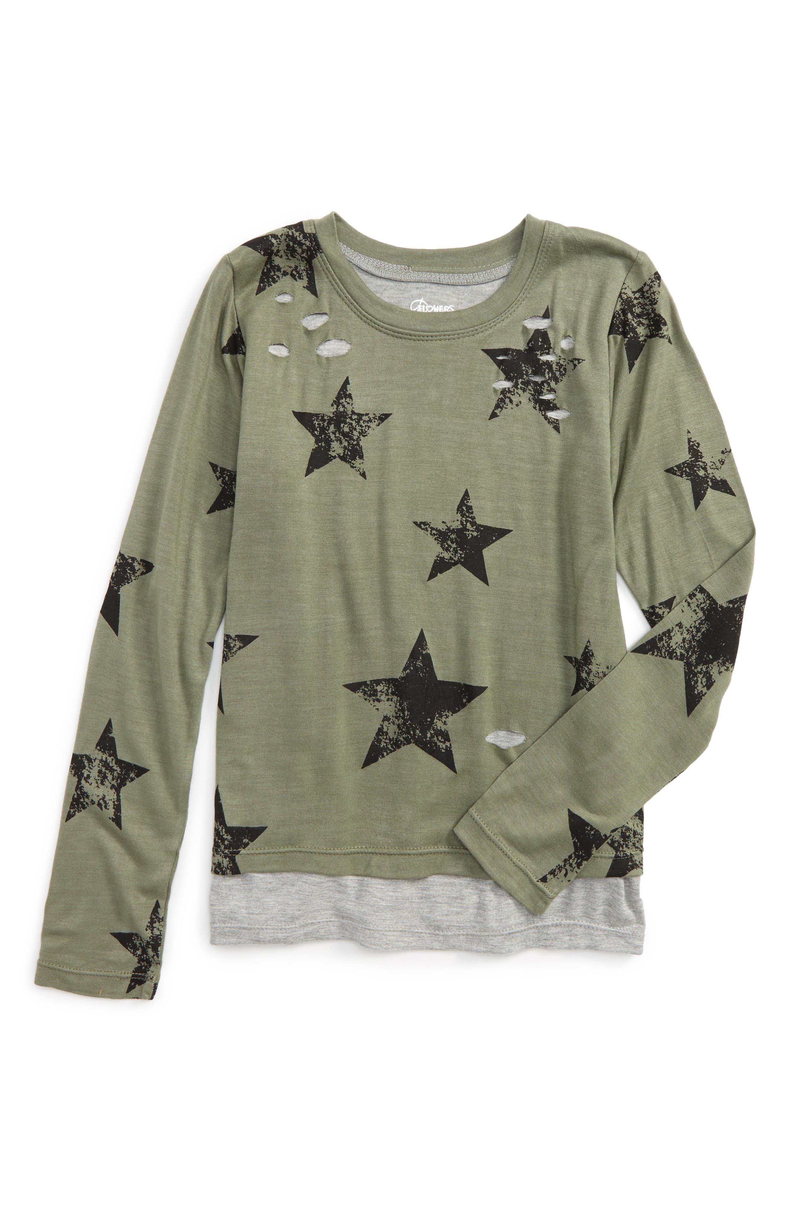 Star Layered Top,                         Main,                         color, Green