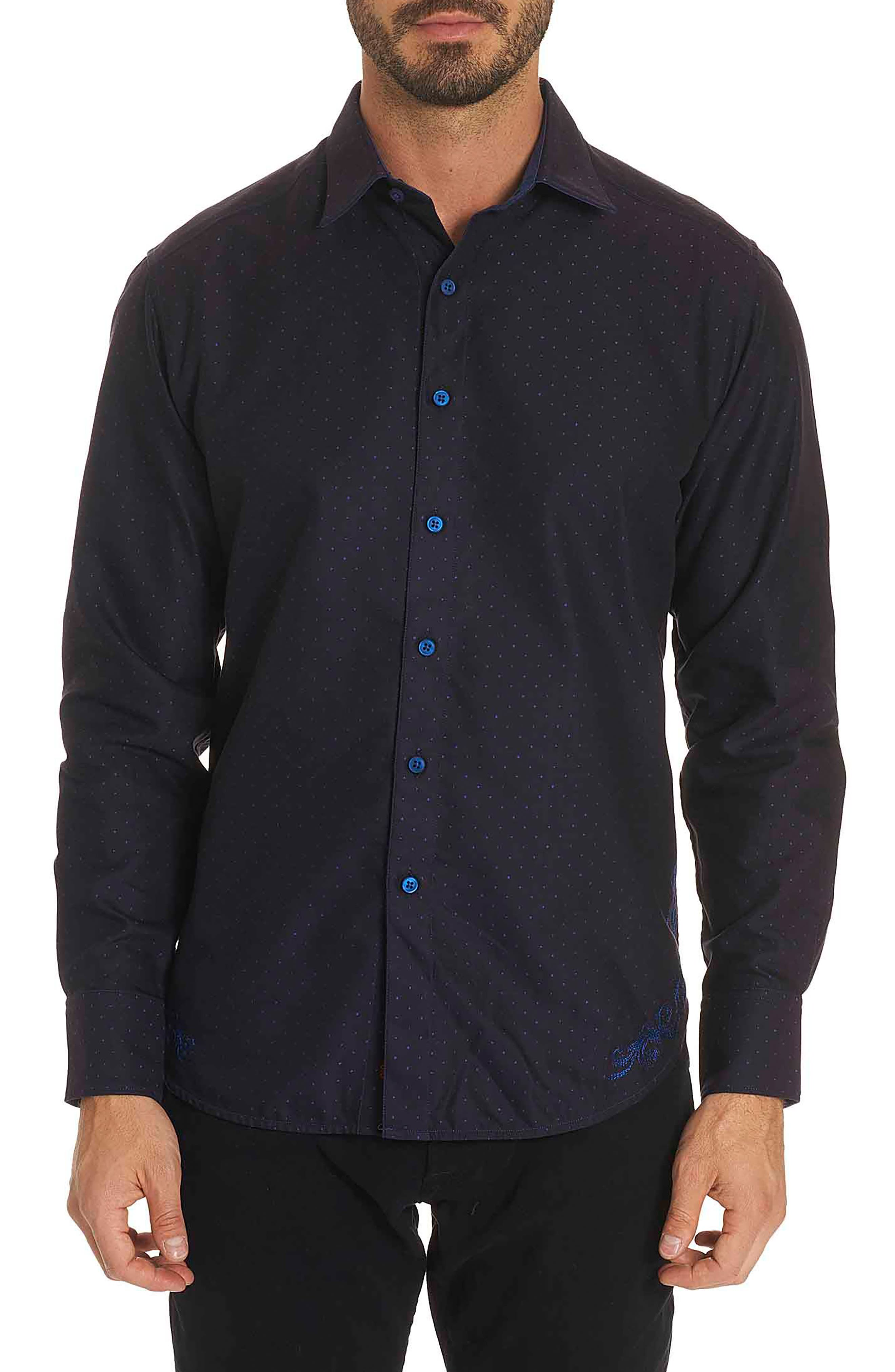 Spruce Classic Fit Sport Shirt,                         Main,                         color, Navy