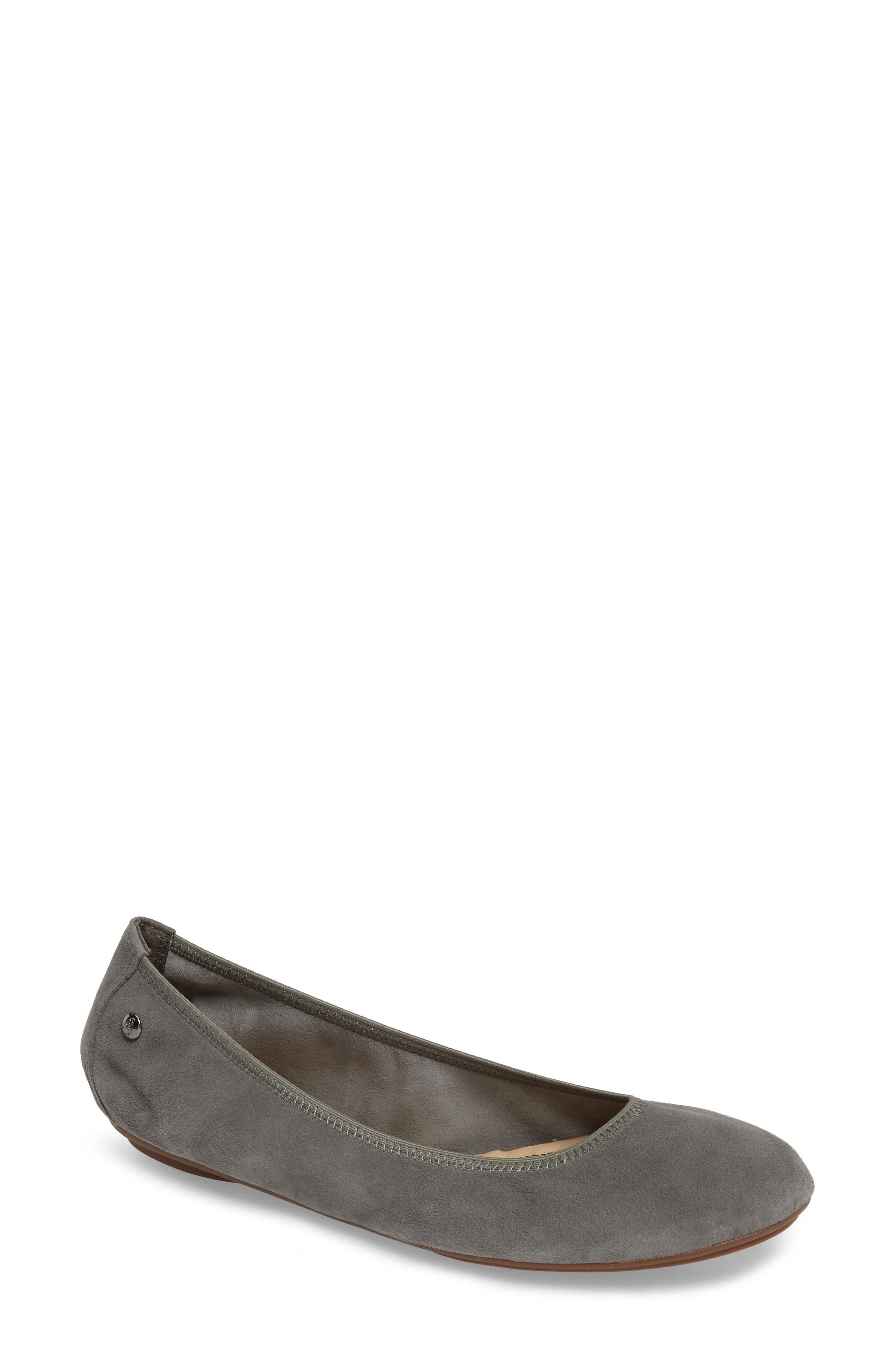 'Chaste' Ballet Flat,                             Main thumbnail 1, color,                             Dusty Green Suede