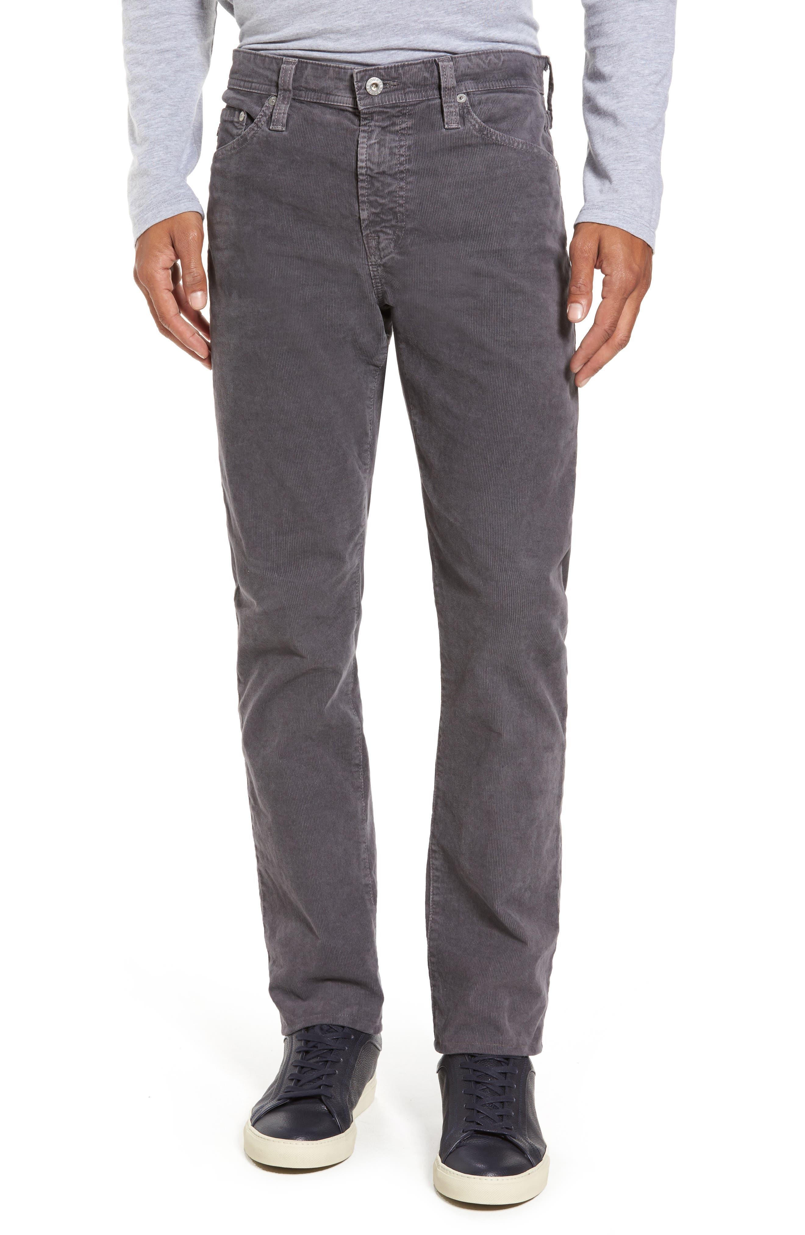 Everett Straight Leg Corduroy Pants,                         Main,                         color, Sulfur Field Stone