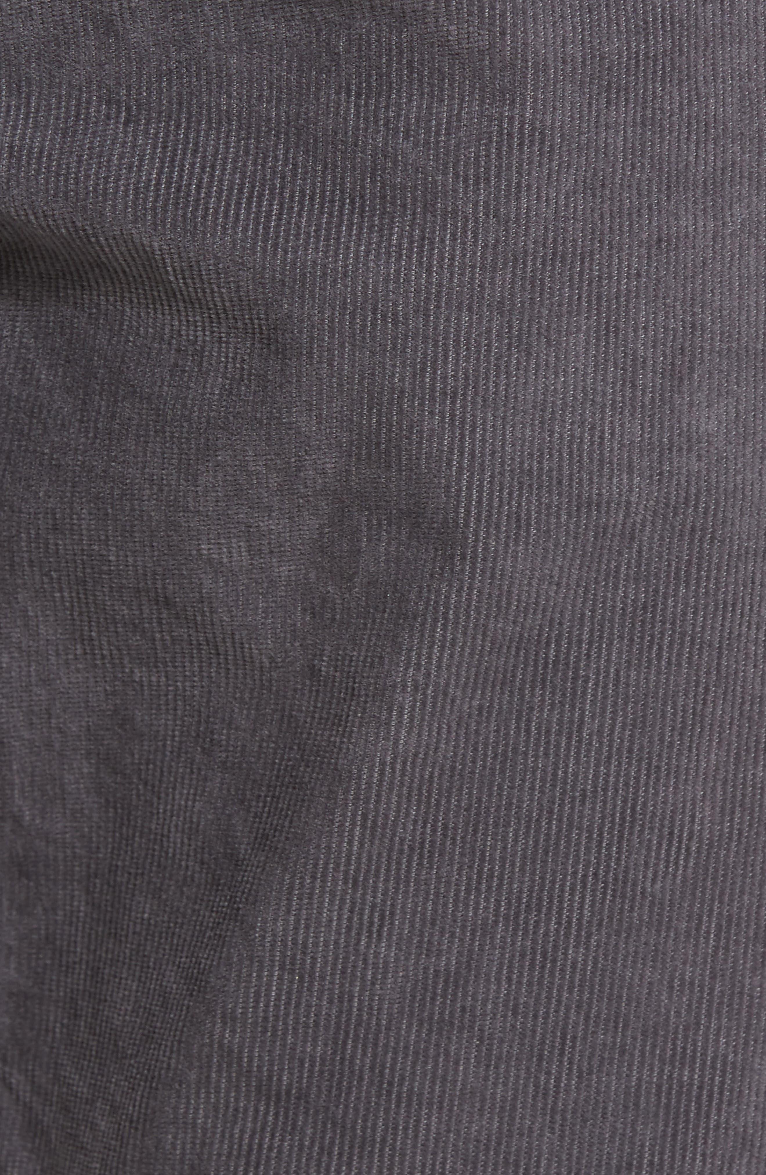 Everett Straight Leg Corduroy Pants,                             Alternate thumbnail 6, color,                             Sulfur Field Stone