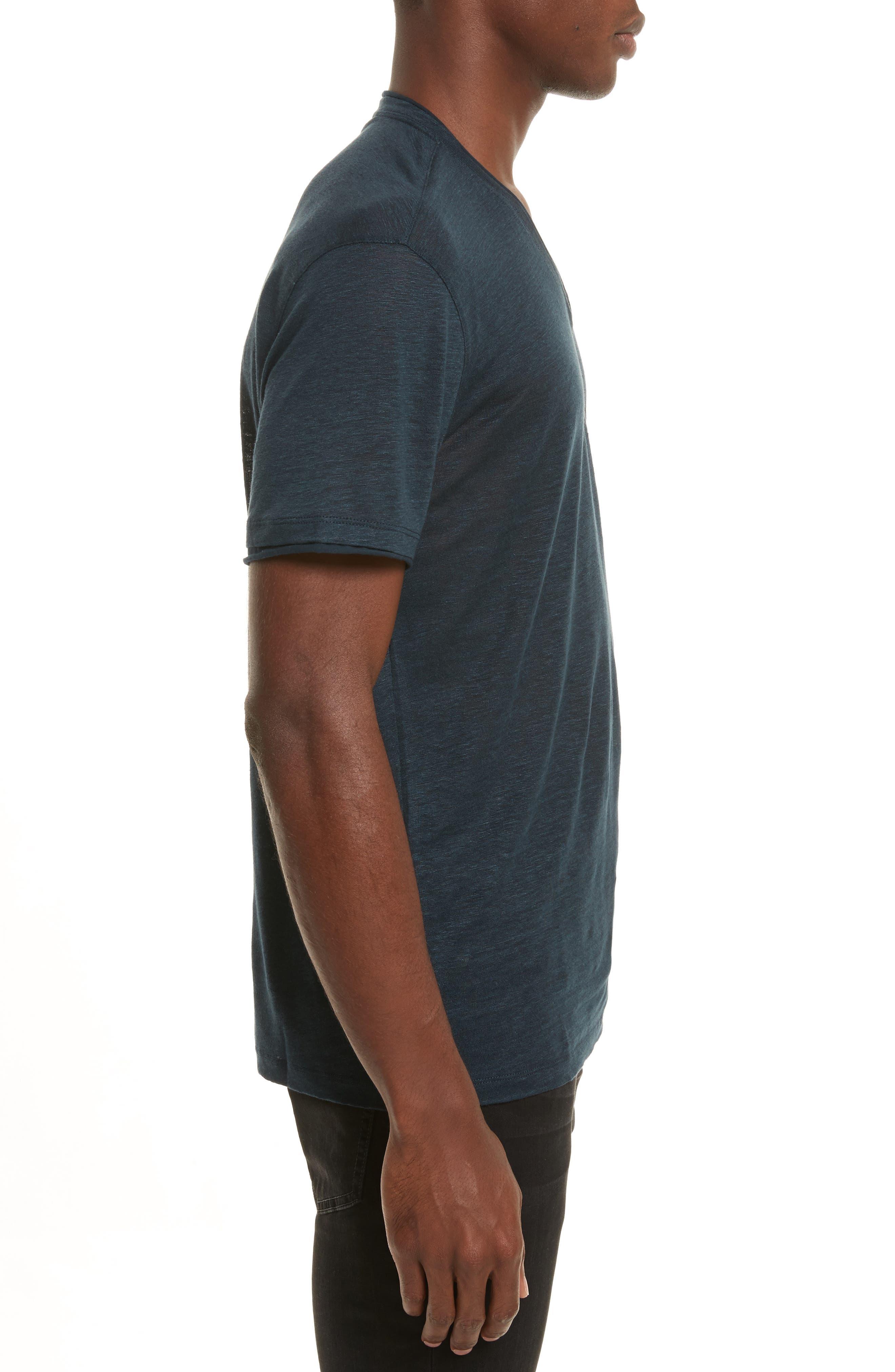 Alternate Image 3  - John Varvatos Collection Linen V-Neck T-Shirt