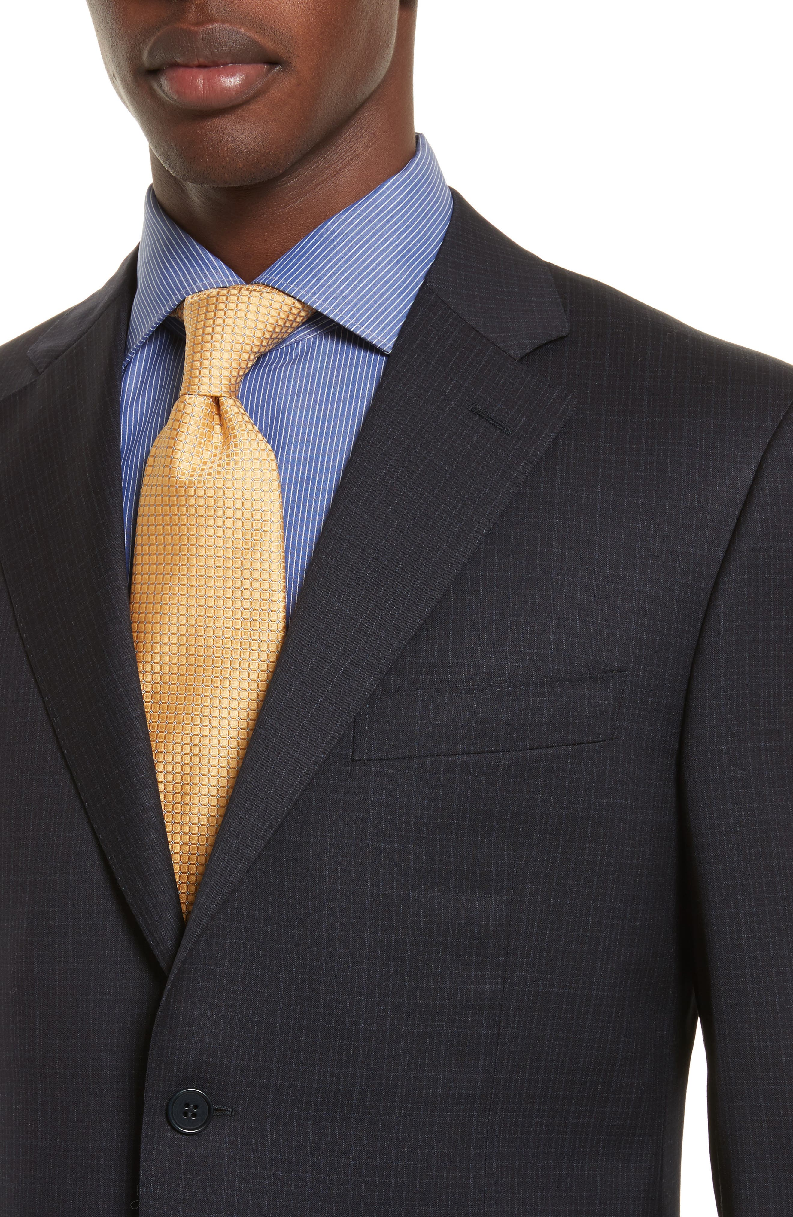Alternate Image 4  - Canali Classic Fit Check Wool Suit