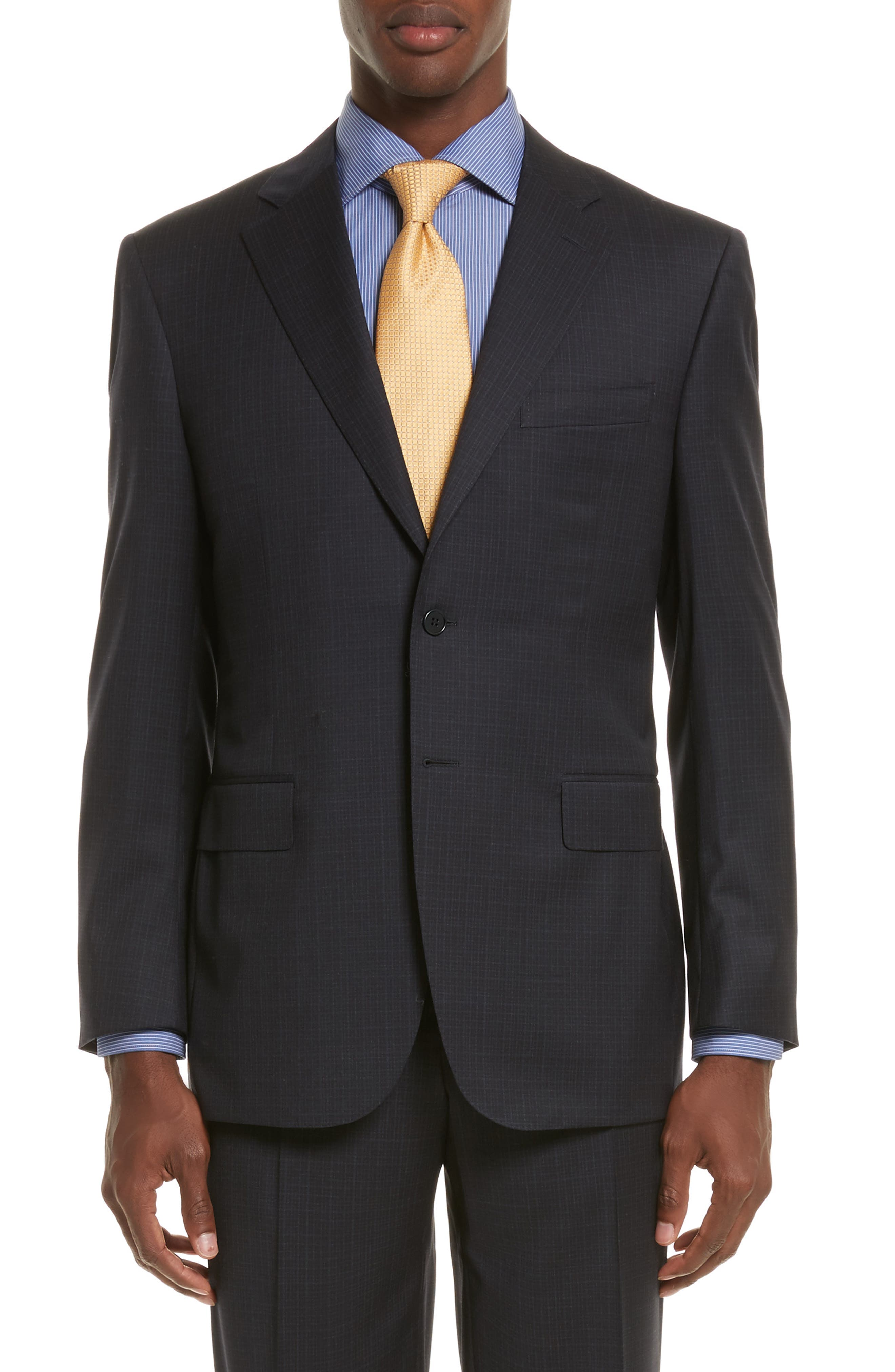 Alternate Image 5  - Canali Classic Fit Check Wool Suit