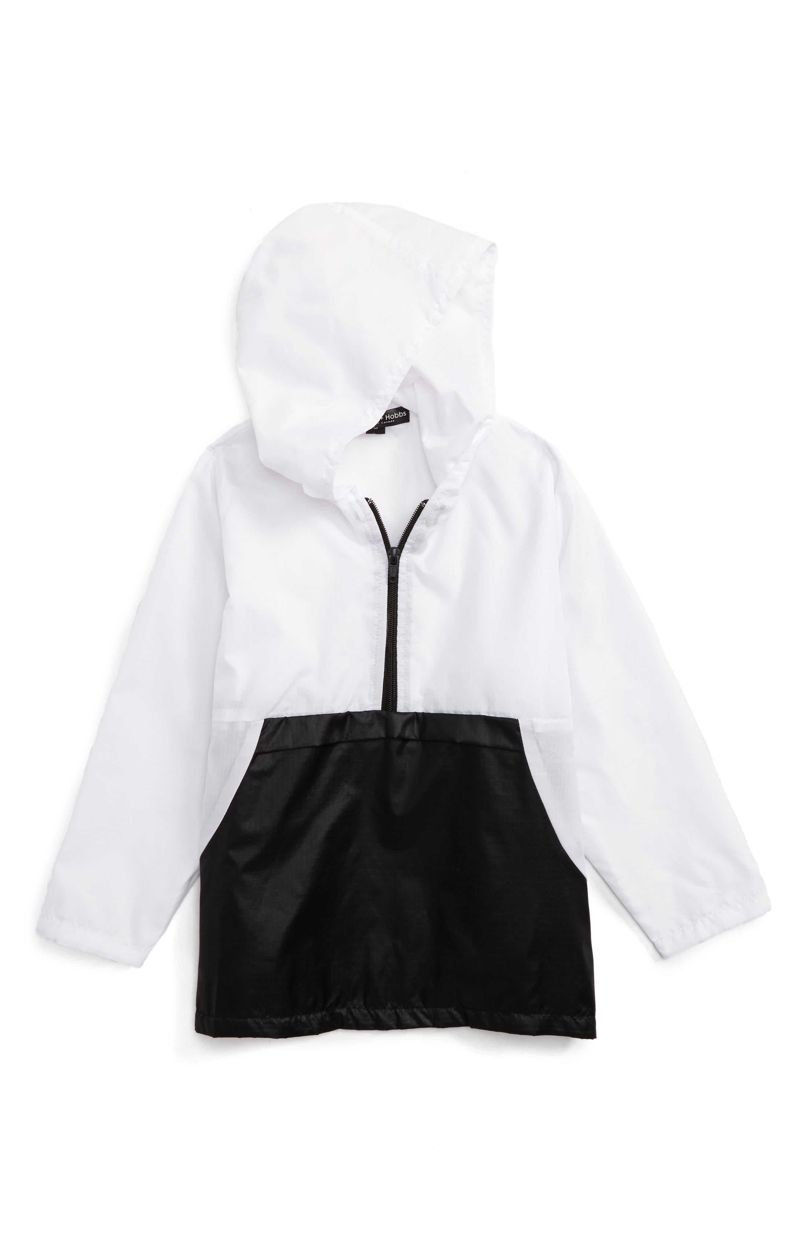 Two Tone Quarter Zip Jacket,                             Main thumbnail 1, color,                             Black/ White