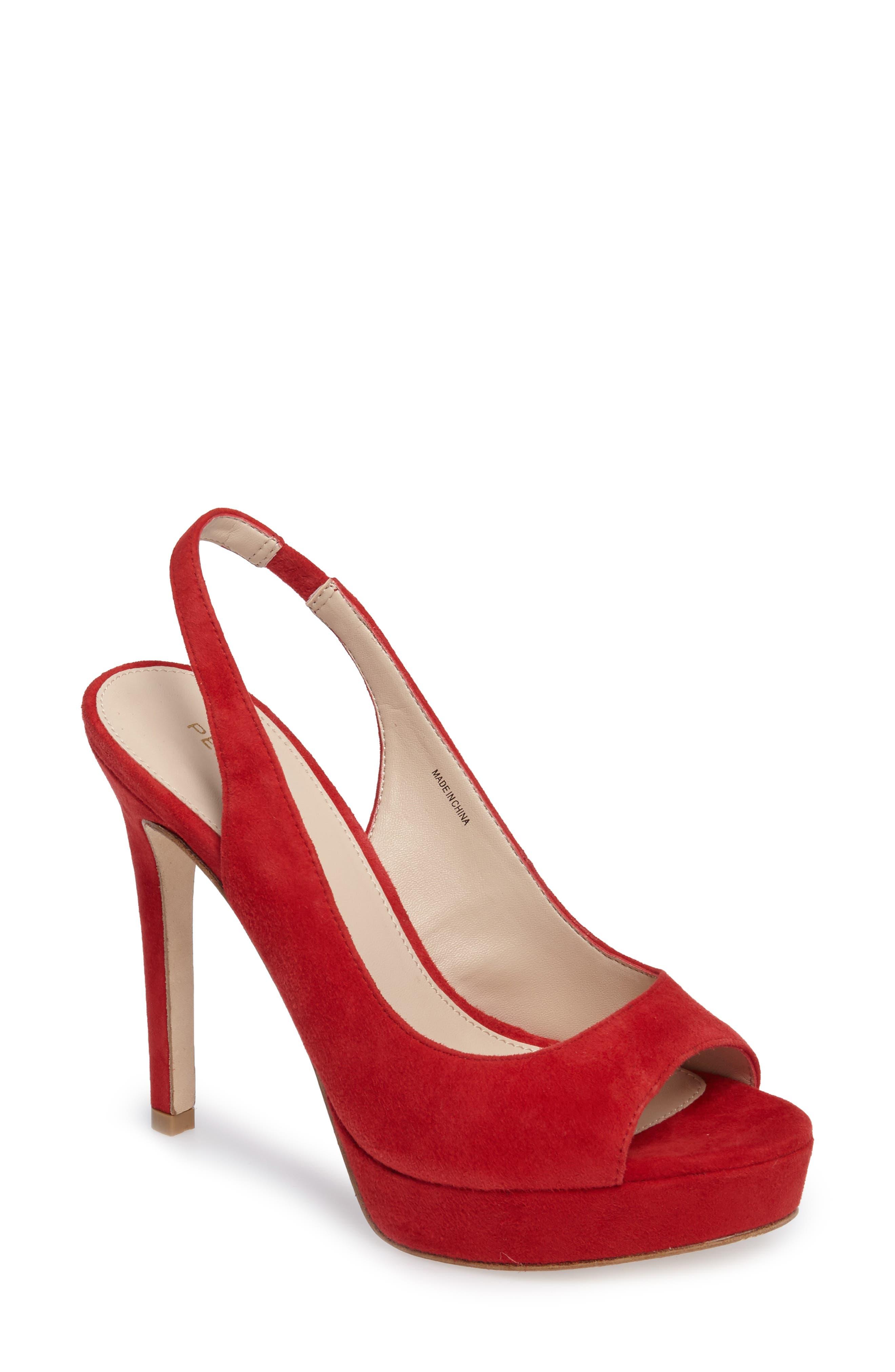 Alternate Image 1 Selected - Pelle Moda Oana Slingback Platform Sandal (Women)