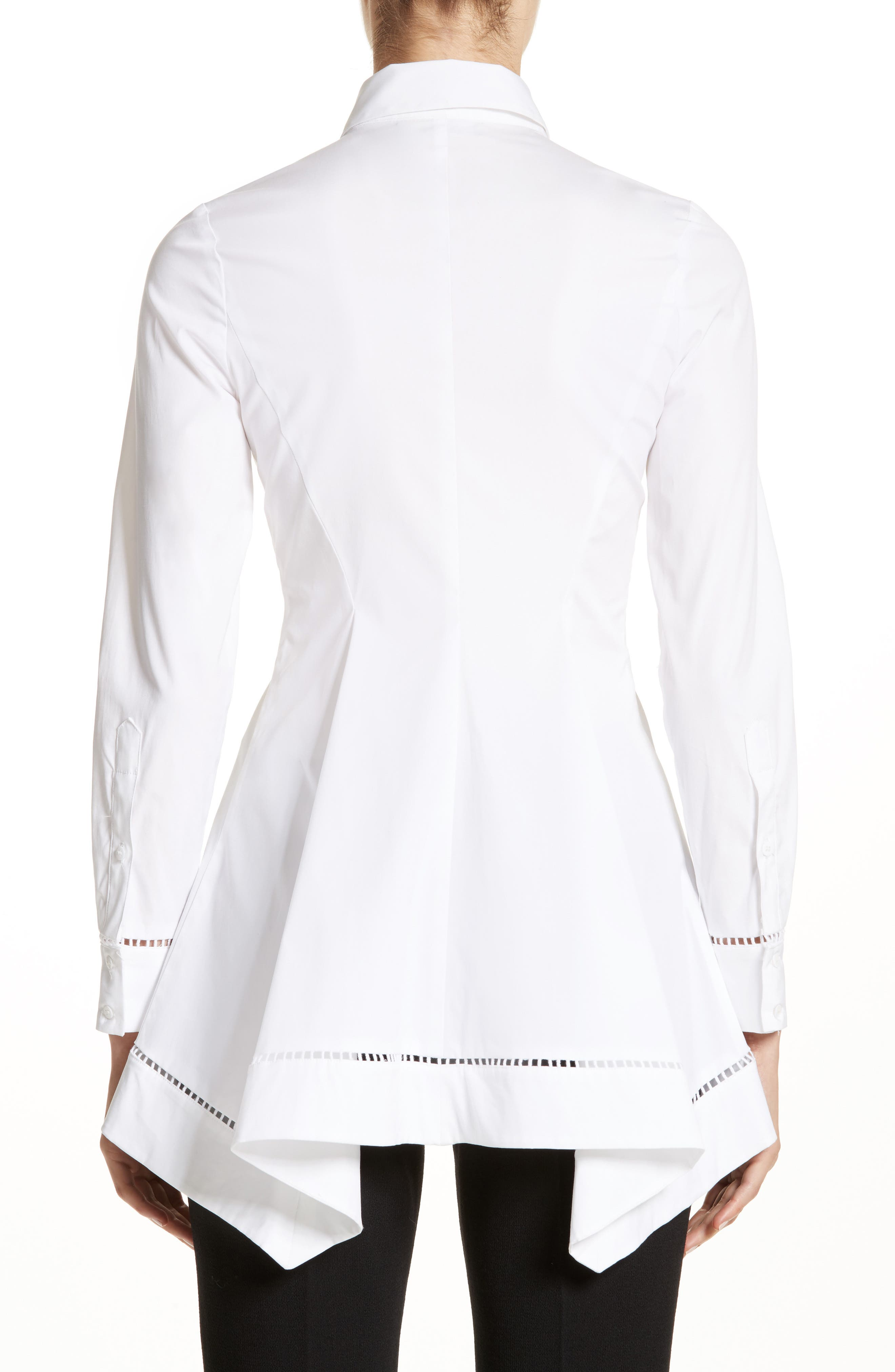 Peplum Shirt,                             Alternate thumbnail 2, color,                             White