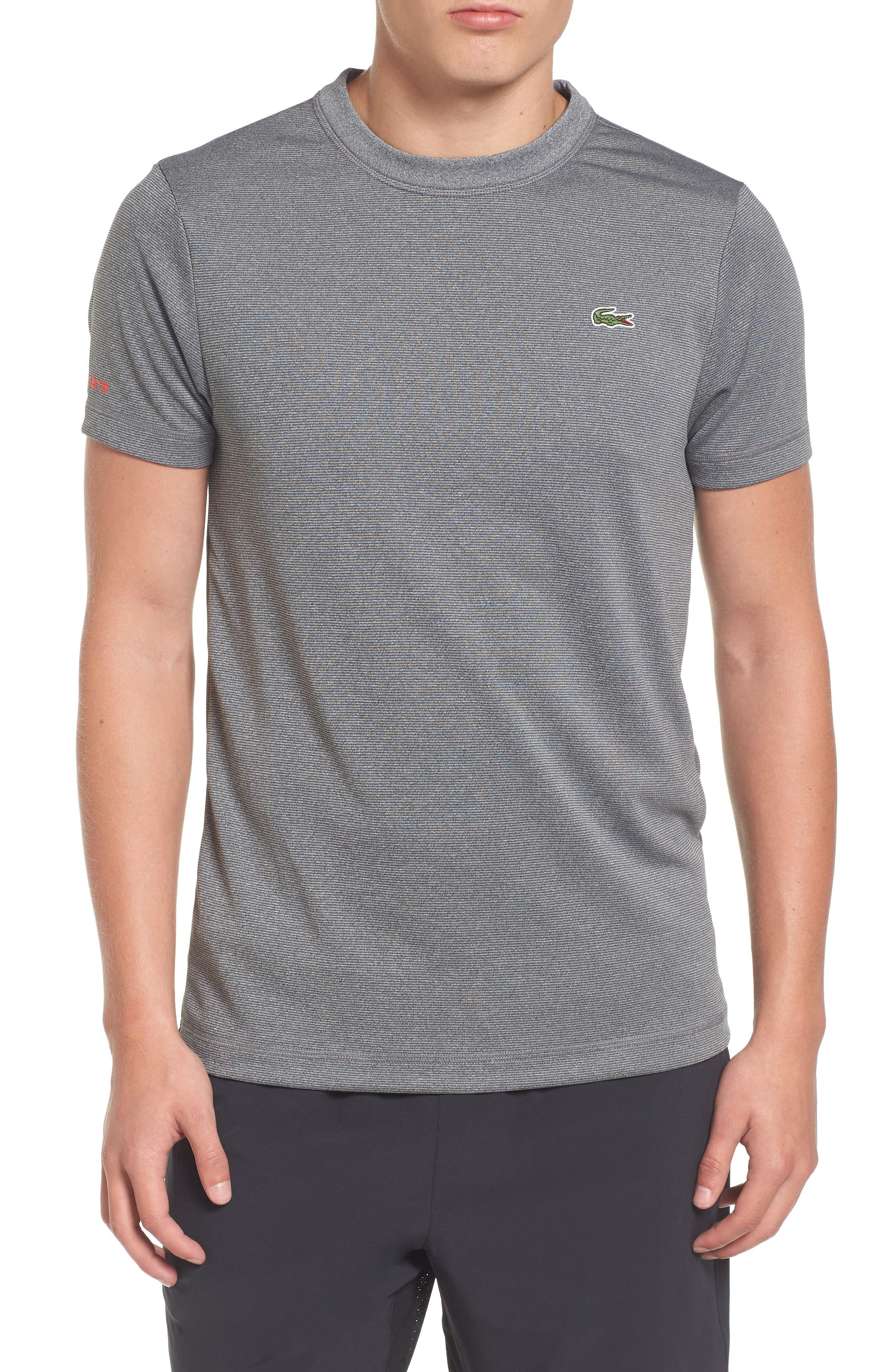 Main Image - Lacoste Pinstripe Grommet T-Shirt