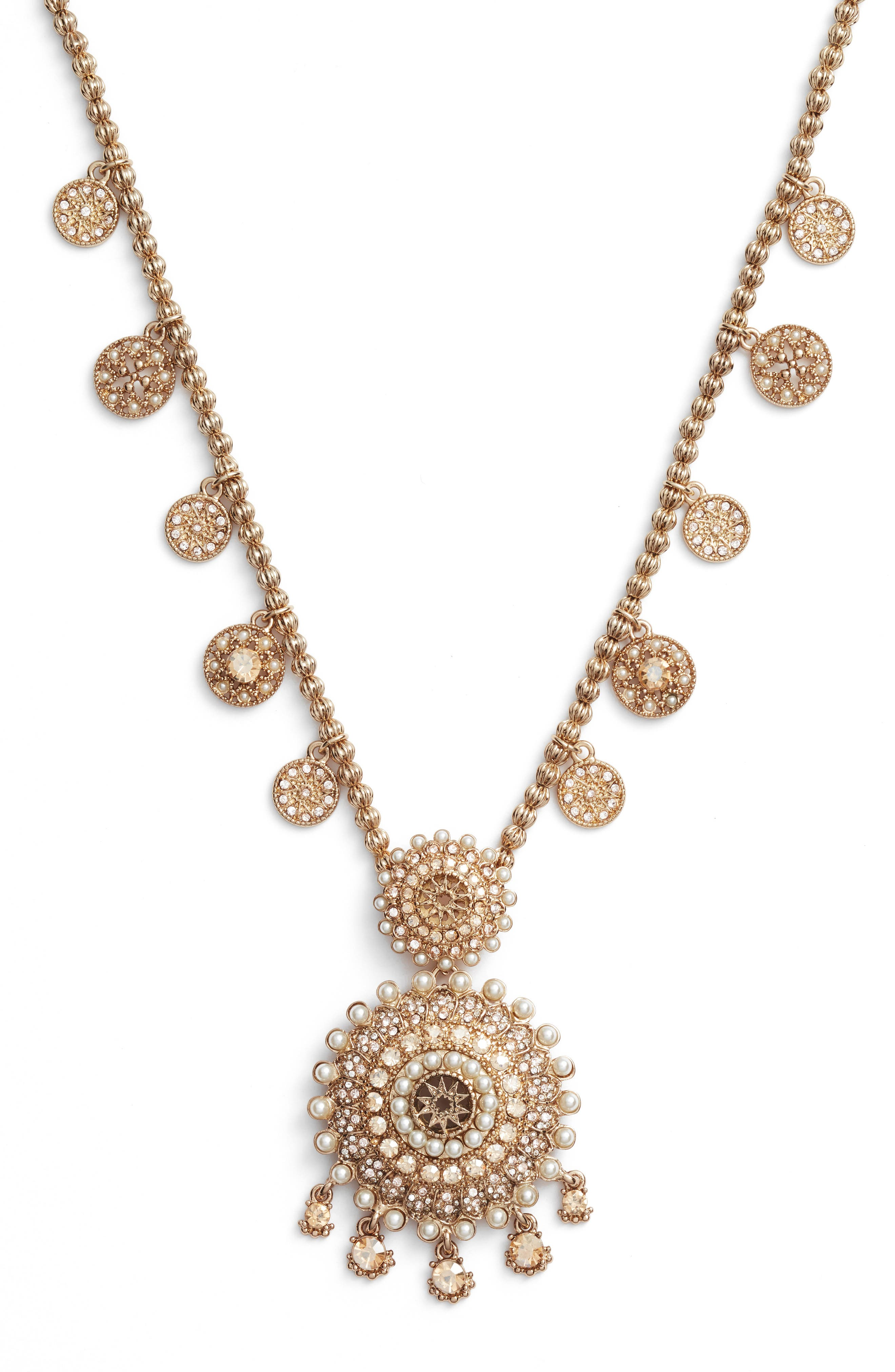 Alternate Image 2  - Marchesa Pendant Necklace