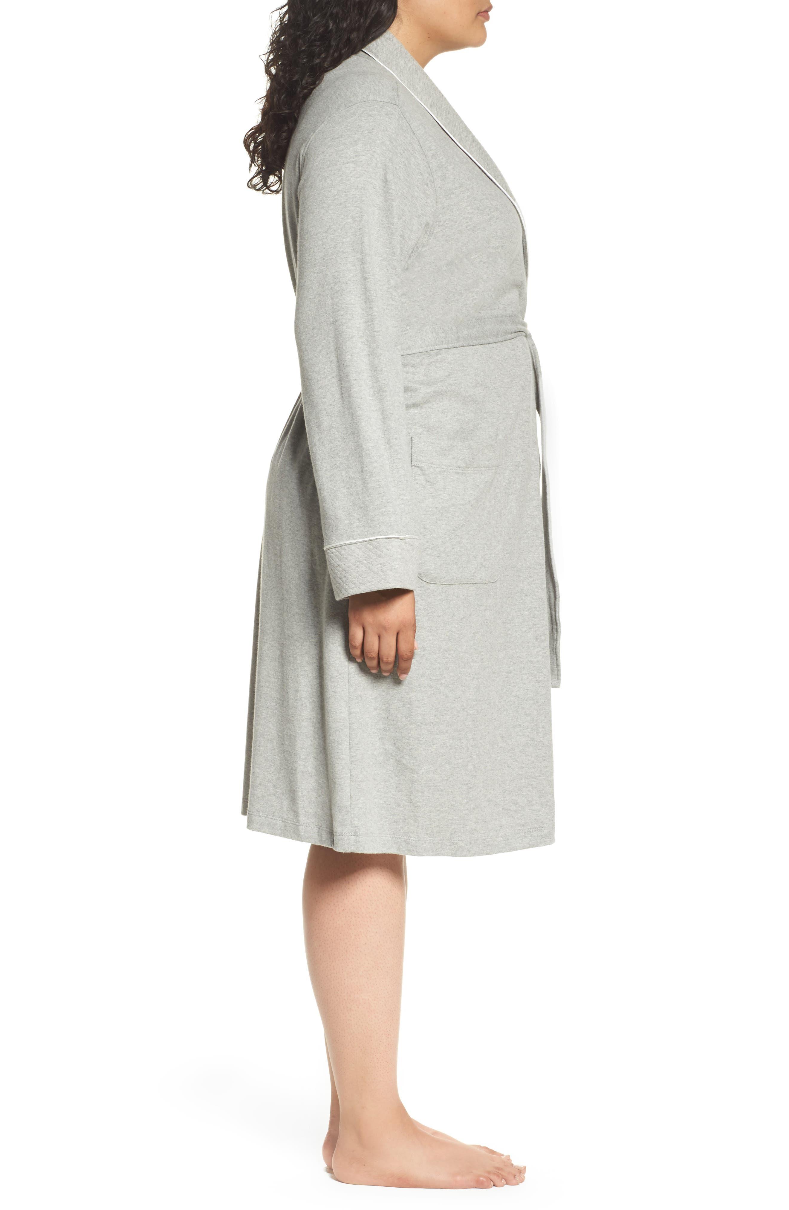 Alternate Image 3  - Lauren Ralph Lauren Shawl Collar Robe (Plus Size) (Online Only)