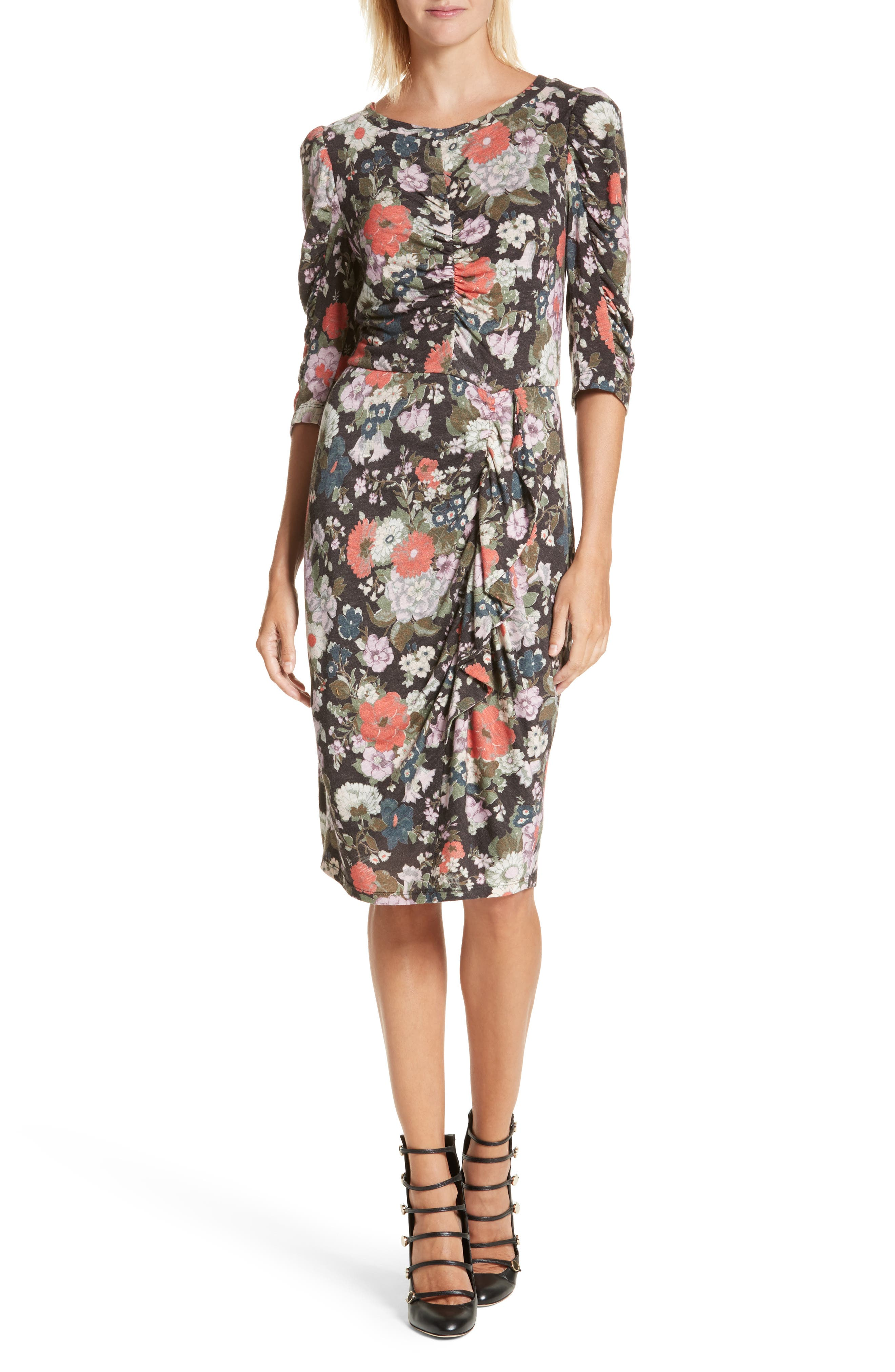 Rebecca Taylor Lua Floral Jersey Dress