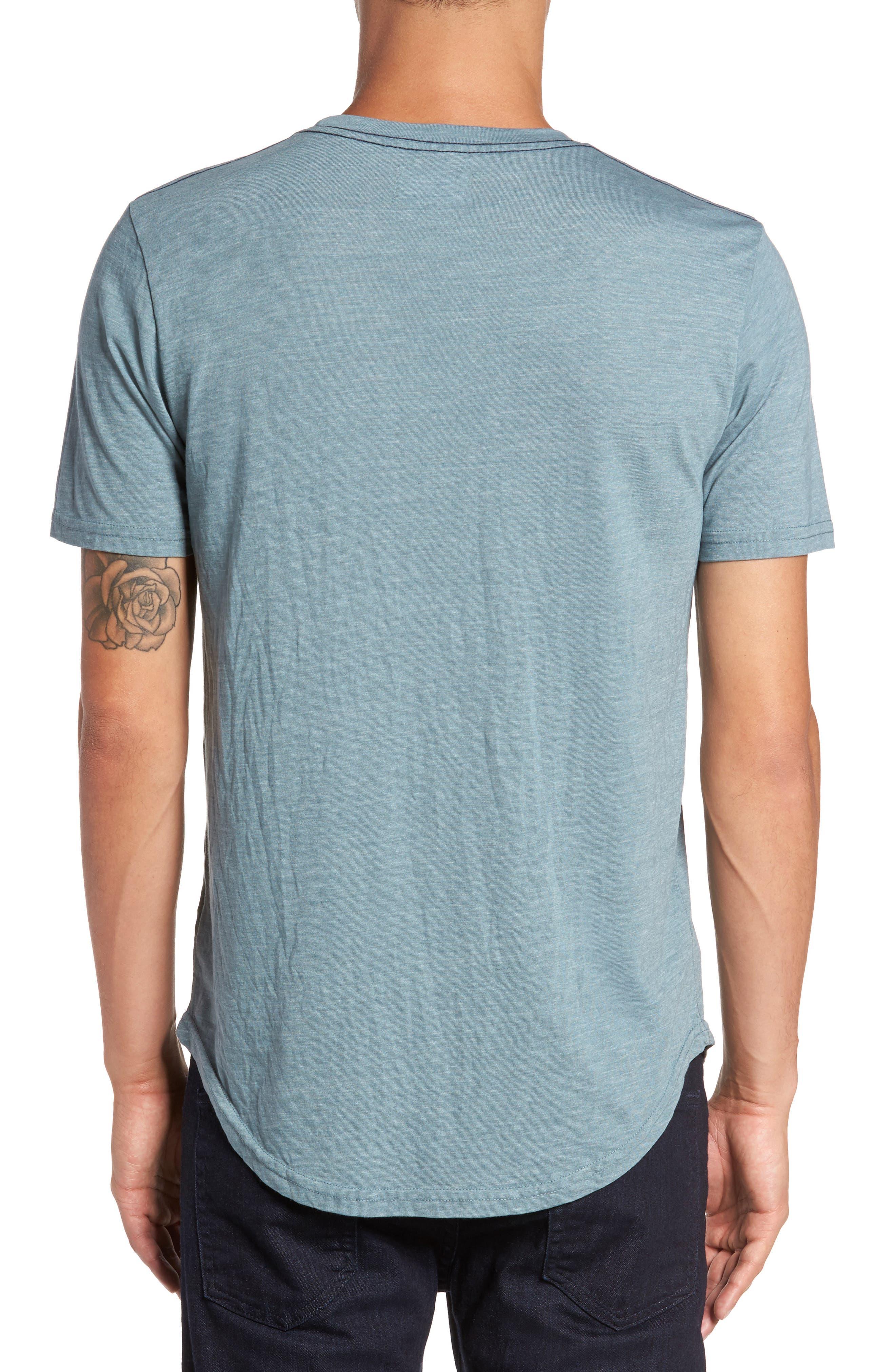 Scallop Triblend Crewneck T-Shirt,                             Alternate thumbnail 2, color,                             Real Teal