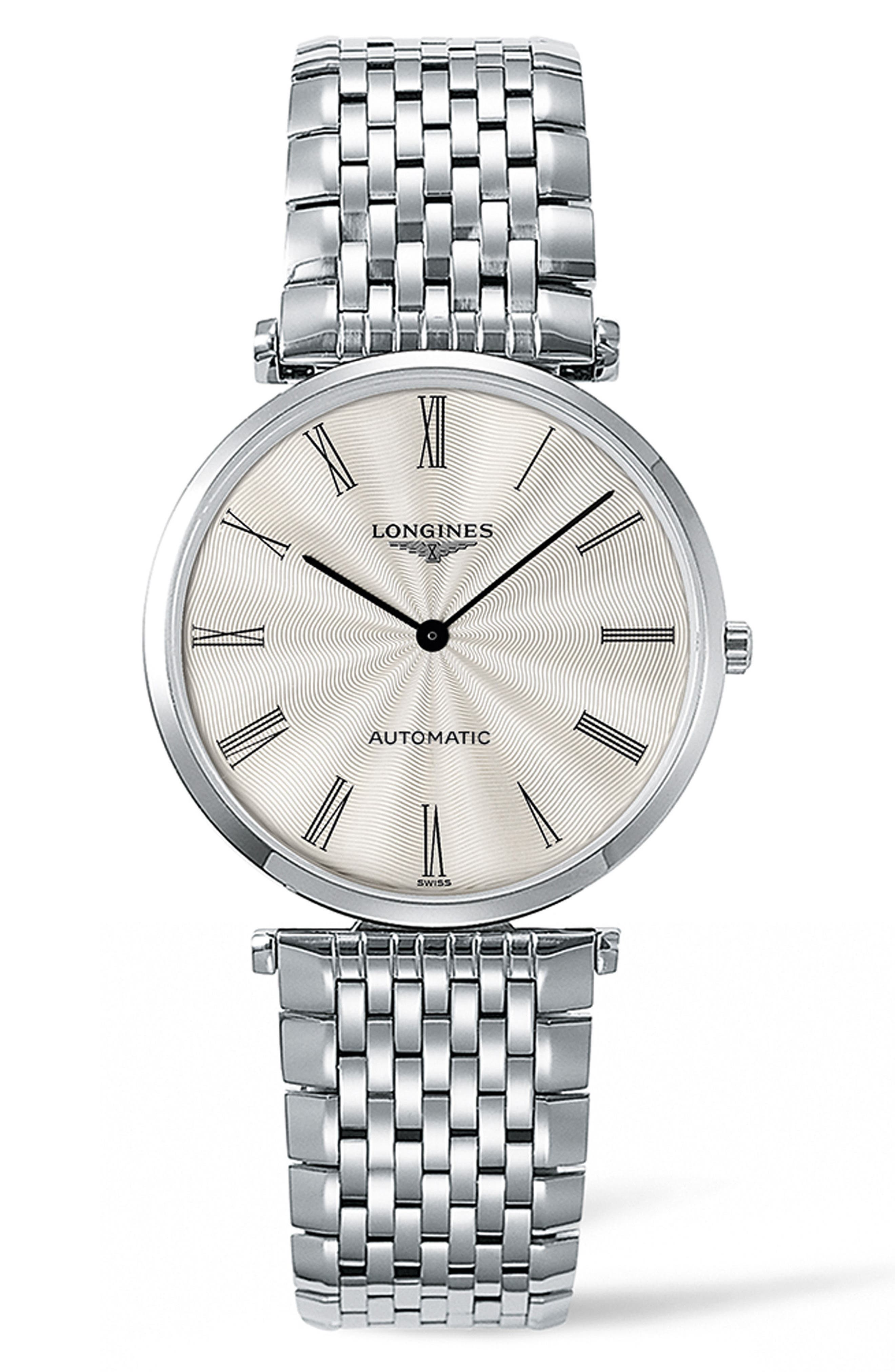 La Grande Classique de Longines Automatic Bracelet Watch, 36mm,                         Main,                         color, Silver