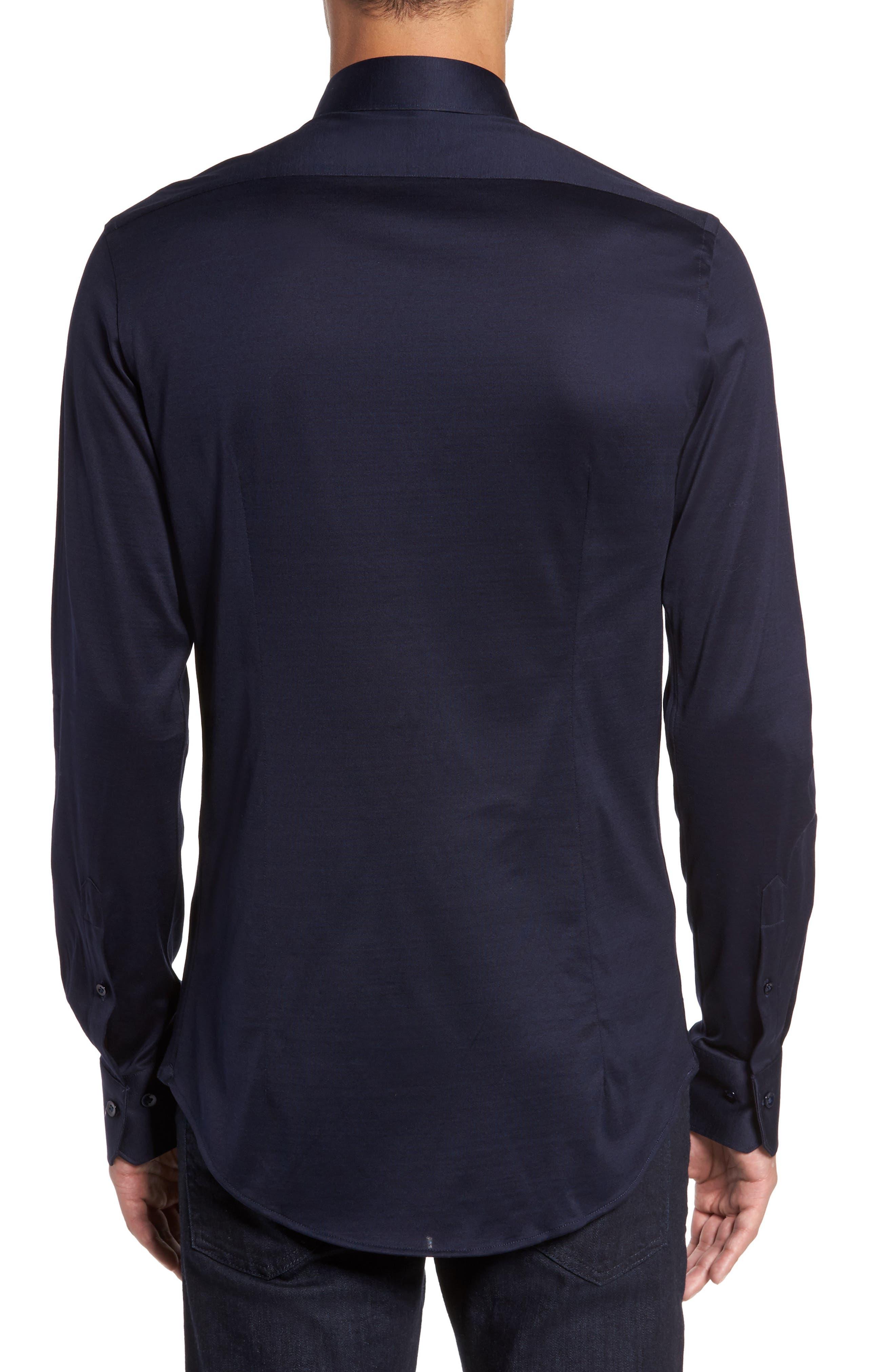 Jersey Sport Shirt,                             Alternate thumbnail 2, color,                             Blue Navy