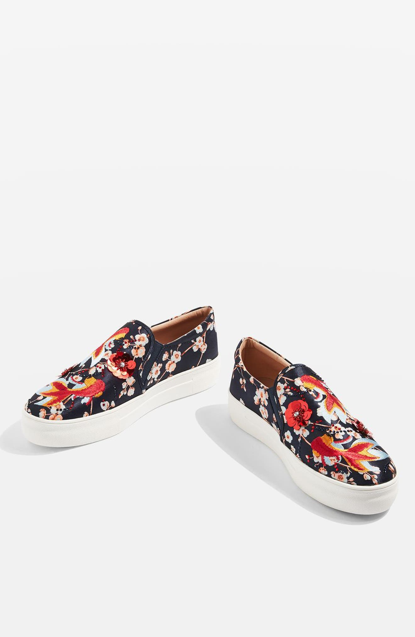 Alternate Image 7  - Topshop Theory Goldfish Embellished Slip-On Sneaker (Women)