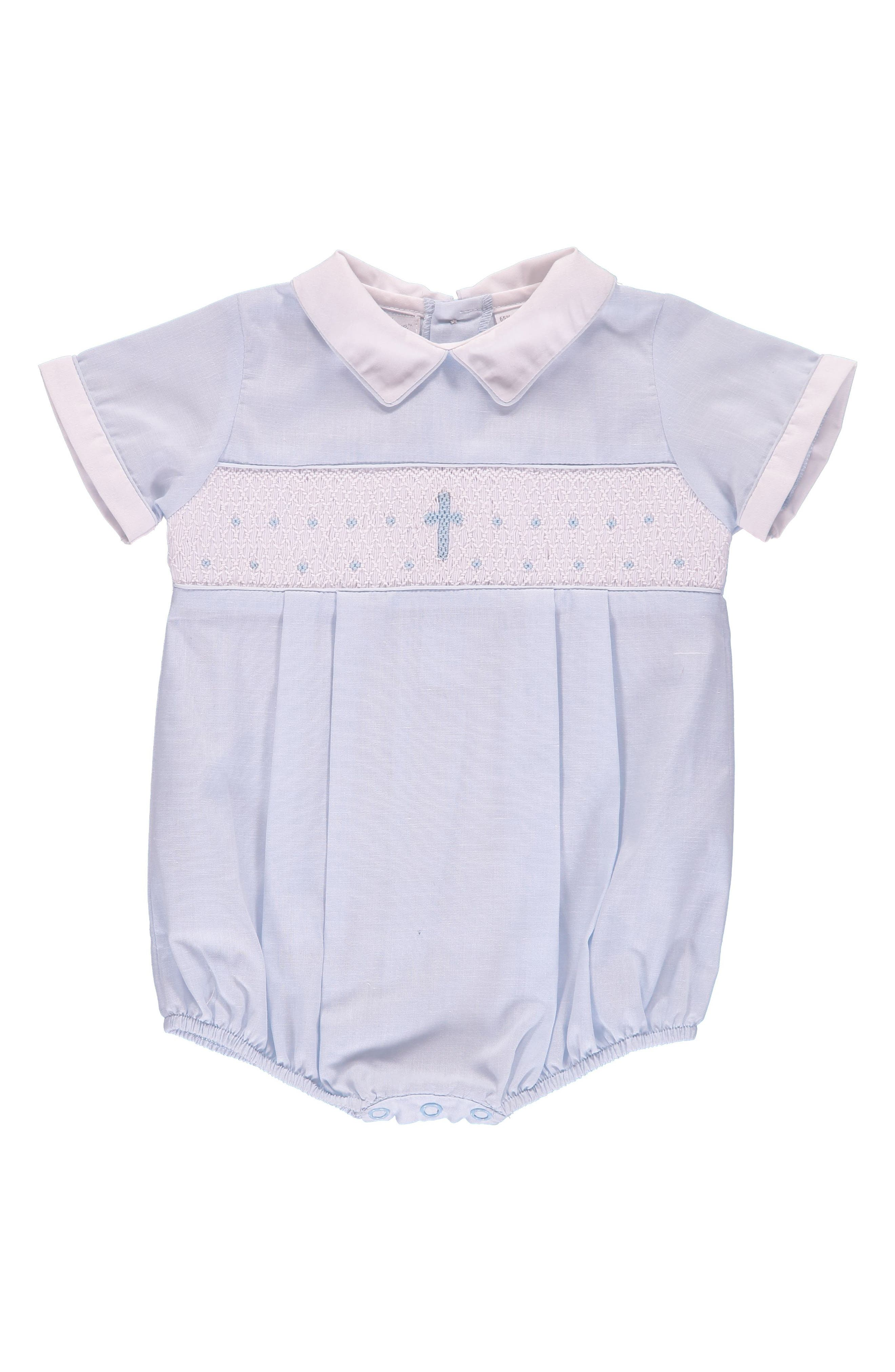 Main Image - Carriage Boutique Christening Bodysuit (Baby Boys)