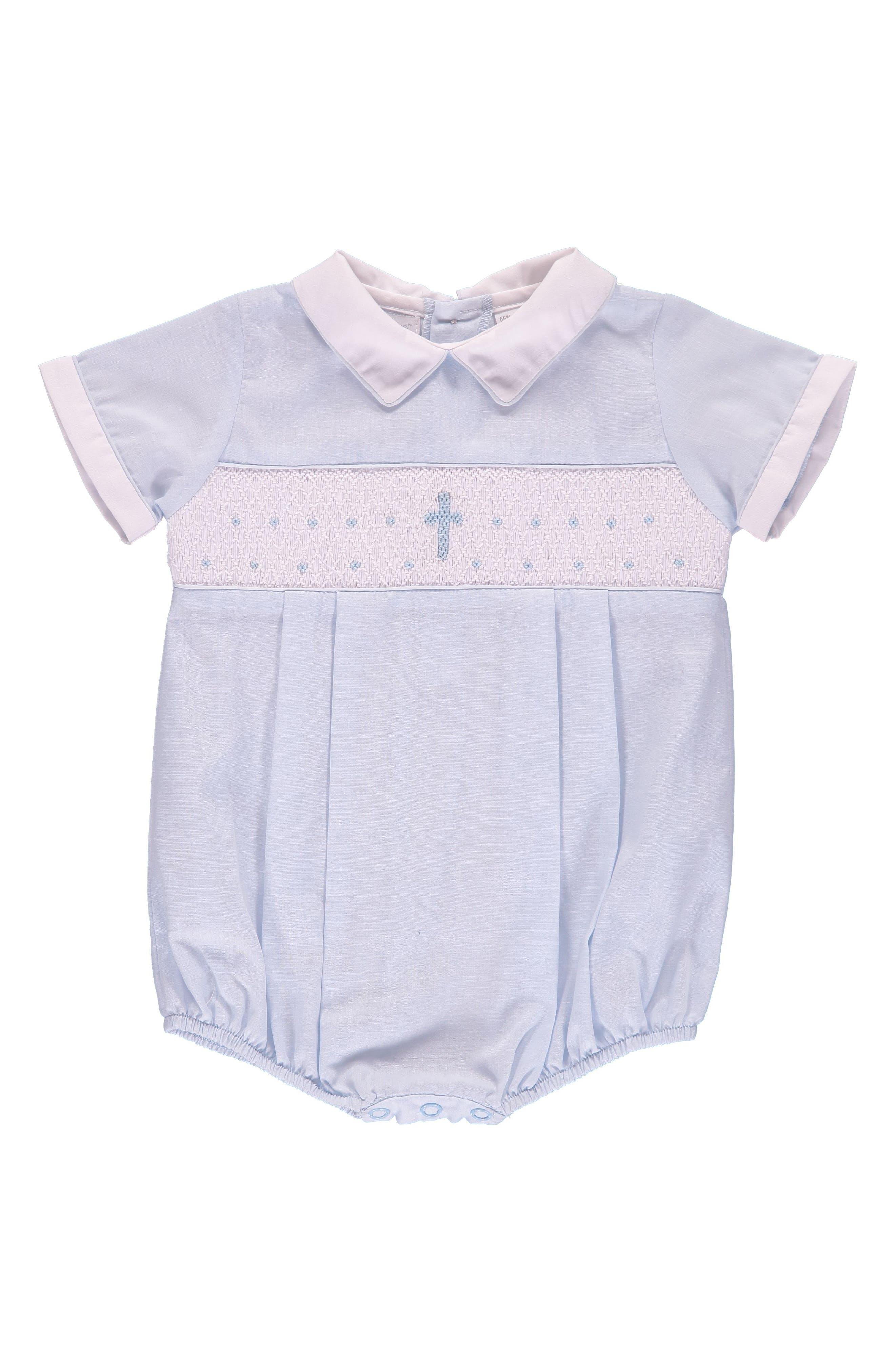 Christening Bodysuit,                         Main,                         color, Blue