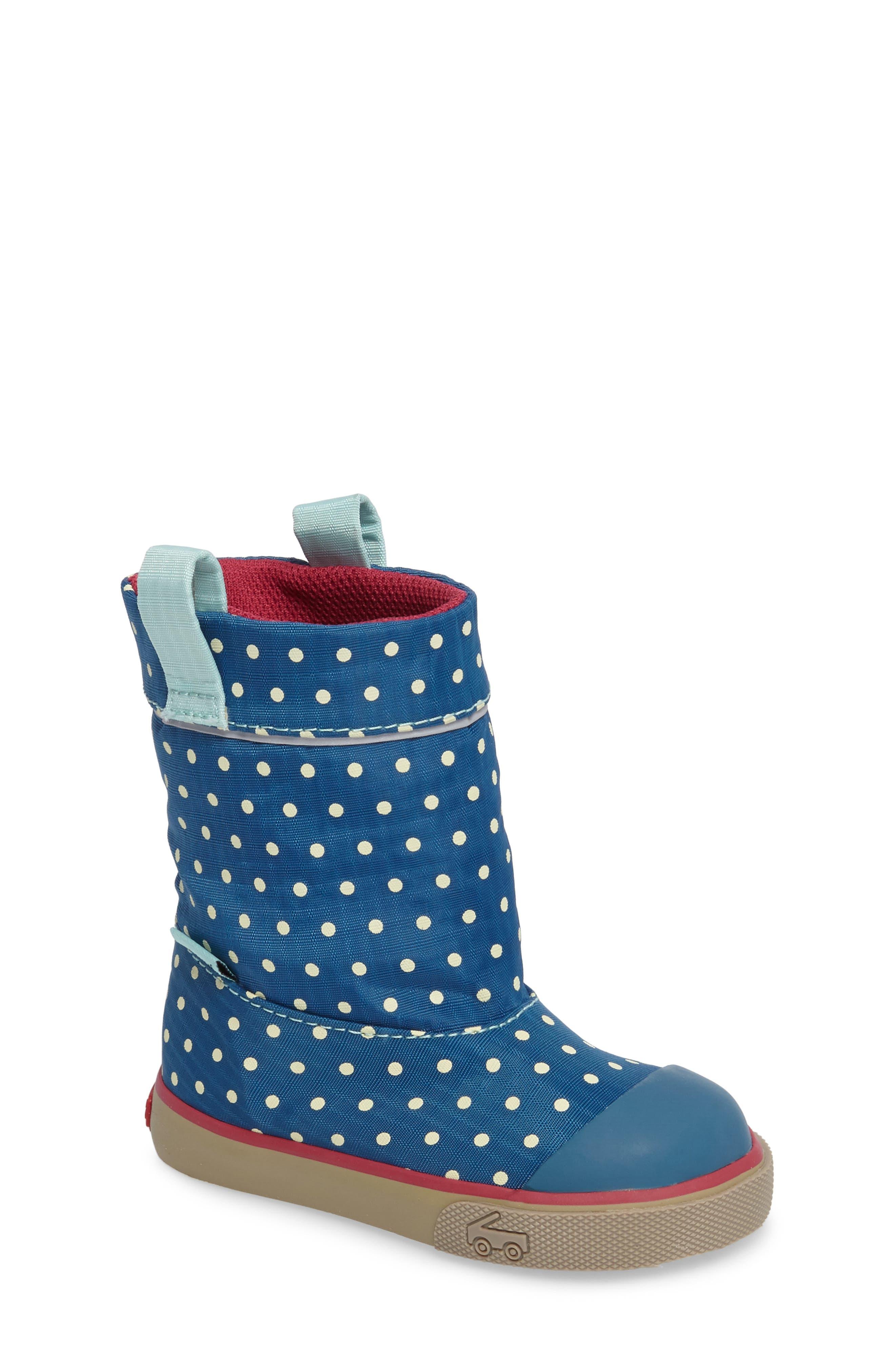 Montlake Waterproof Boot,                         Main,                         color, Dark Blue