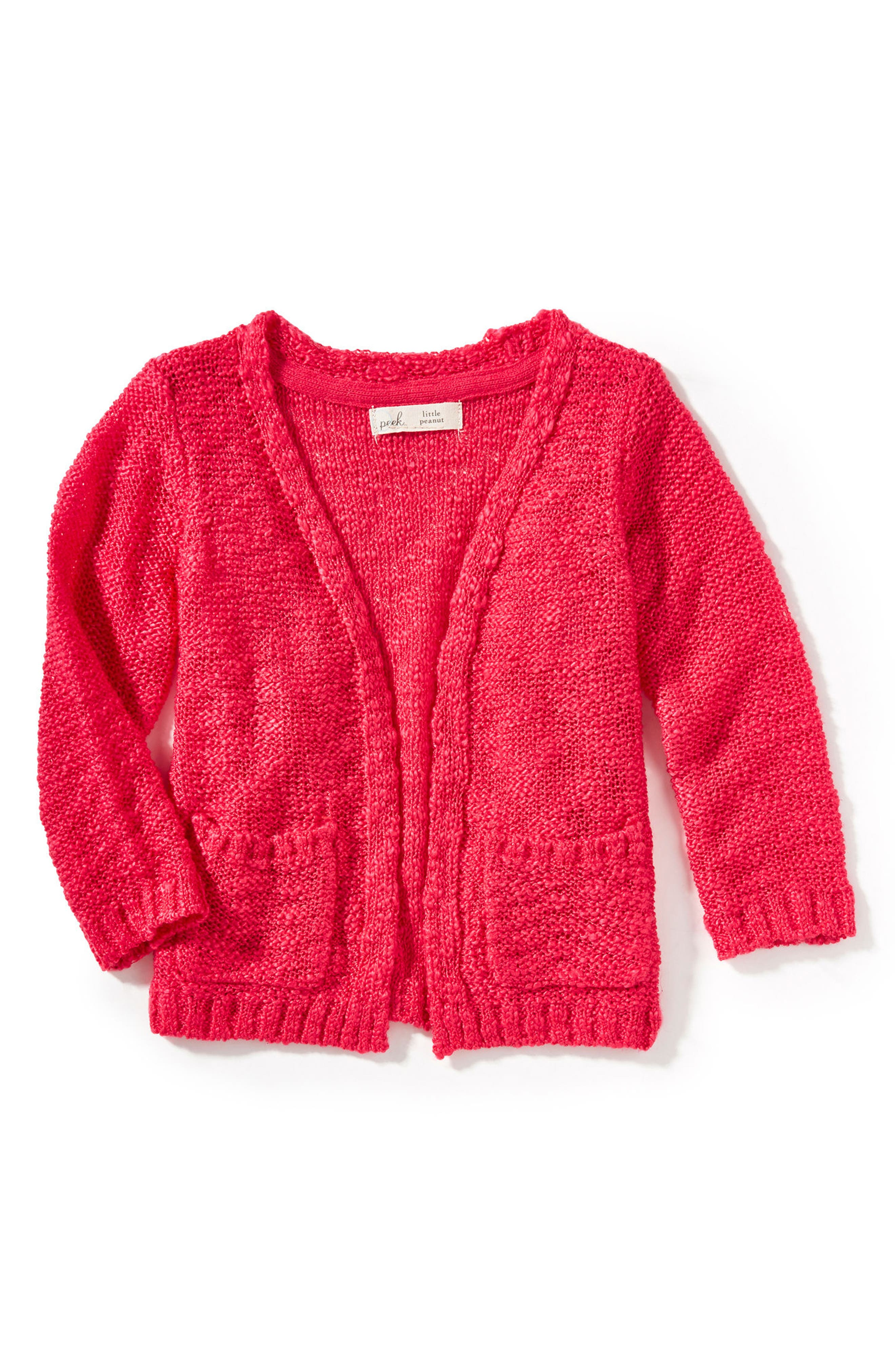 Cecile Cardigan,                             Main thumbnail 1, color,                             Hot Pink