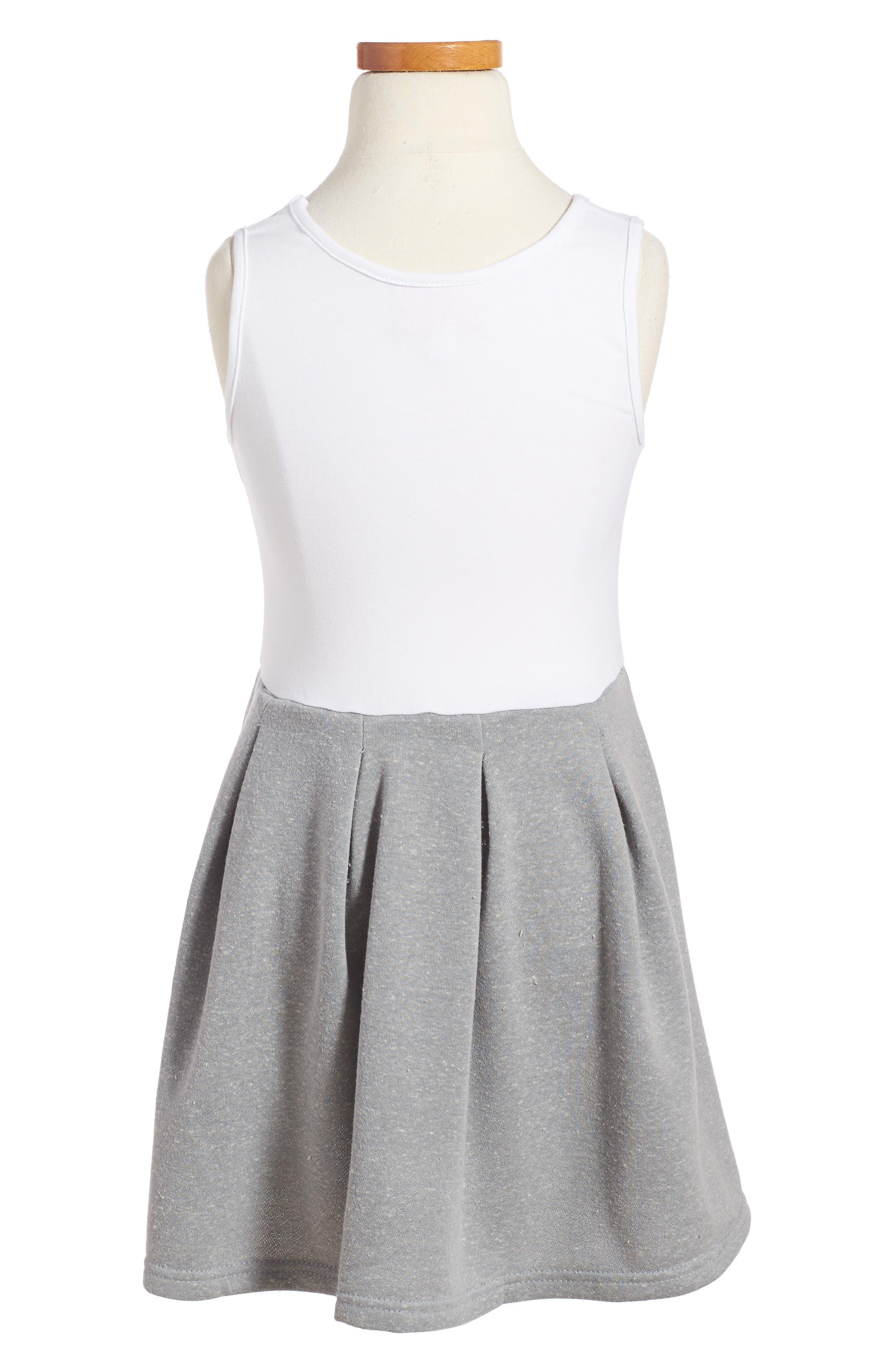 Pastourelle by Pippa and Julie Sleeveless Dress & Sweatshirt Set,                             Alternate thumbnail 3, color,                             Grey