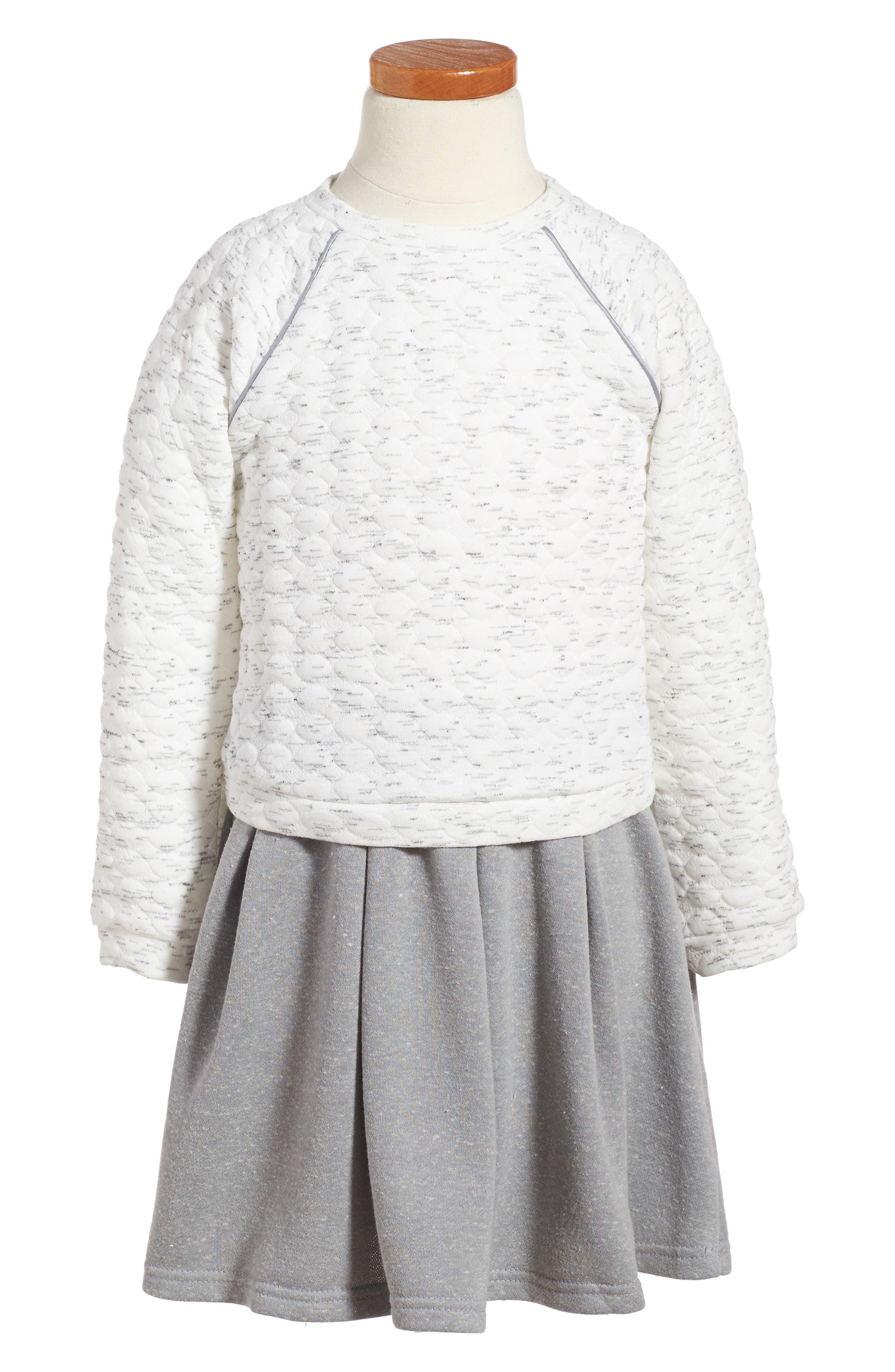 Pastourelle by Pippa and Julie Sleeveless Dress & Sweatshirt Set,                         Main,                         color, Grey