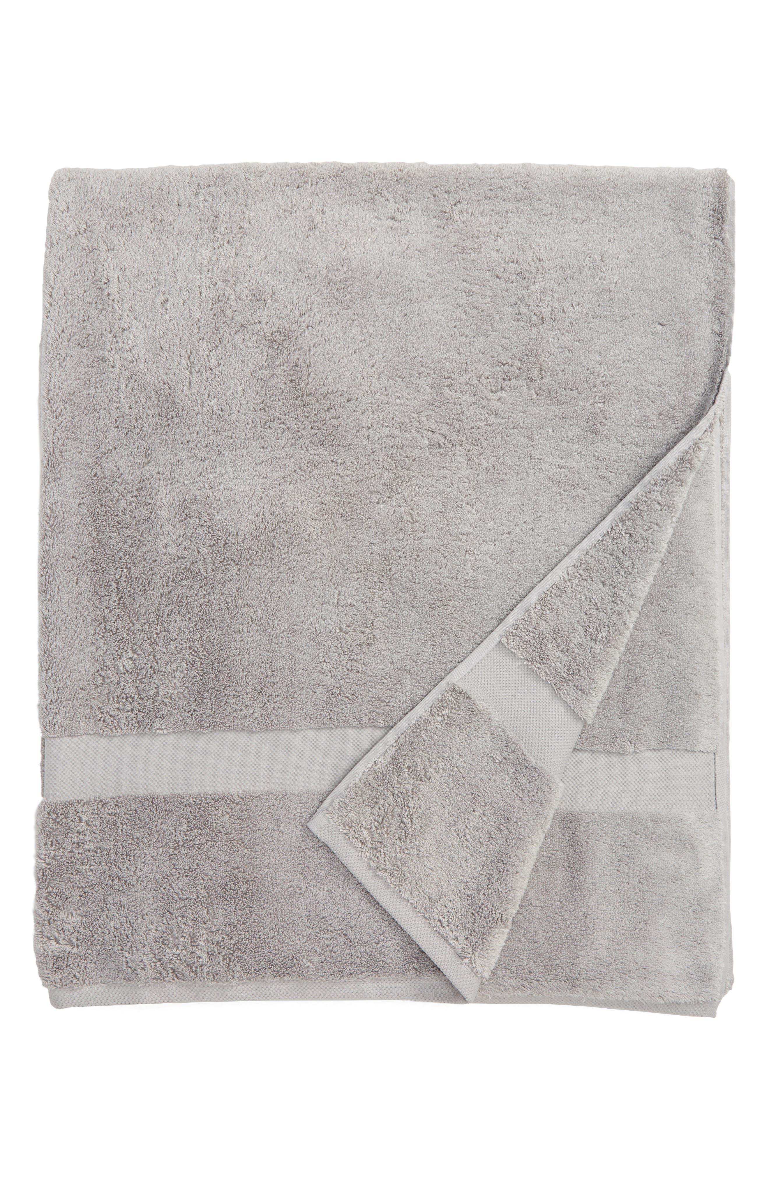 Lotus Bath Sheet,                         Main,                         color, Smoke