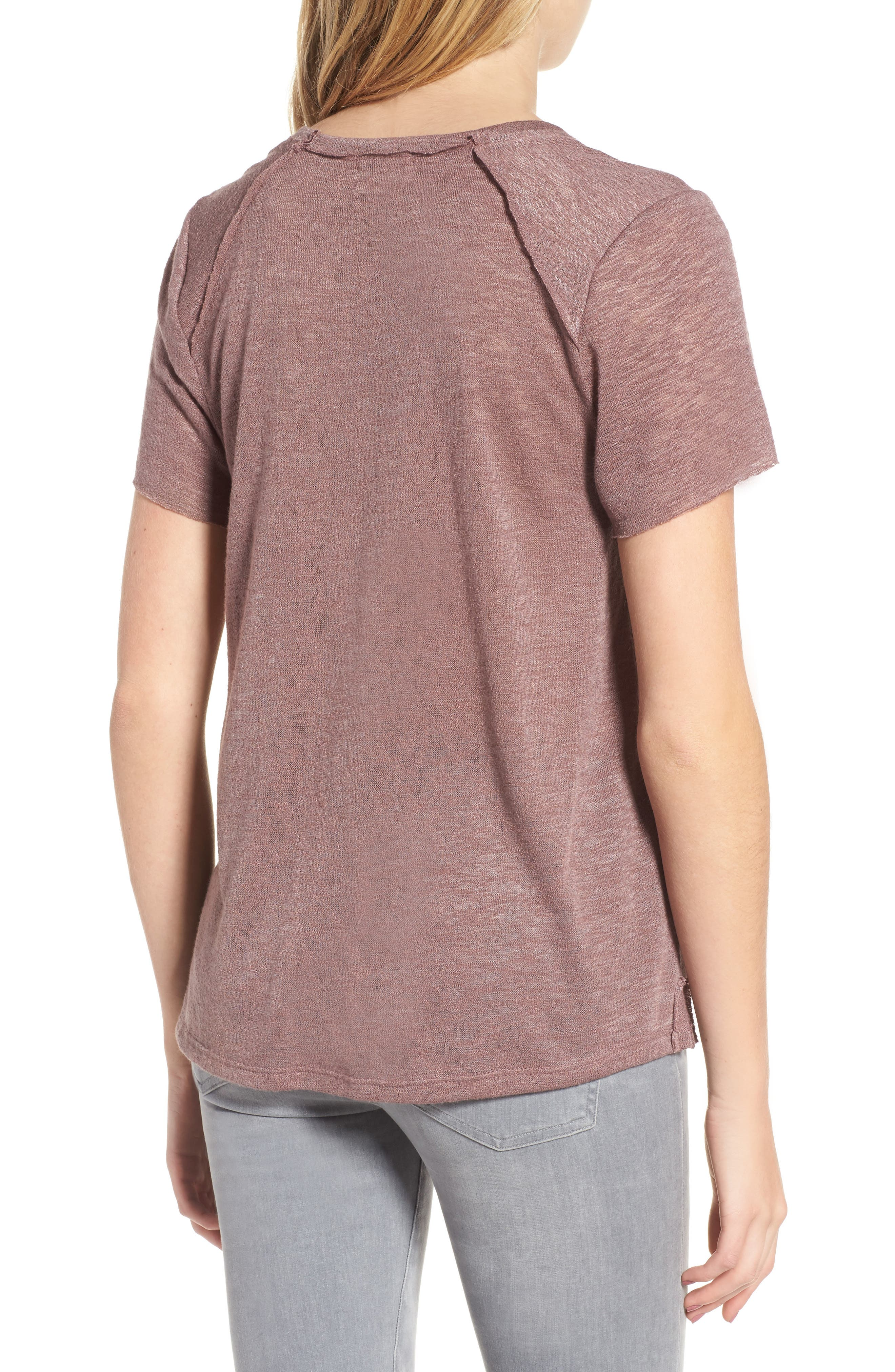 Slub Tee,                             Alternate thumbnail 2, color,                             Lavender