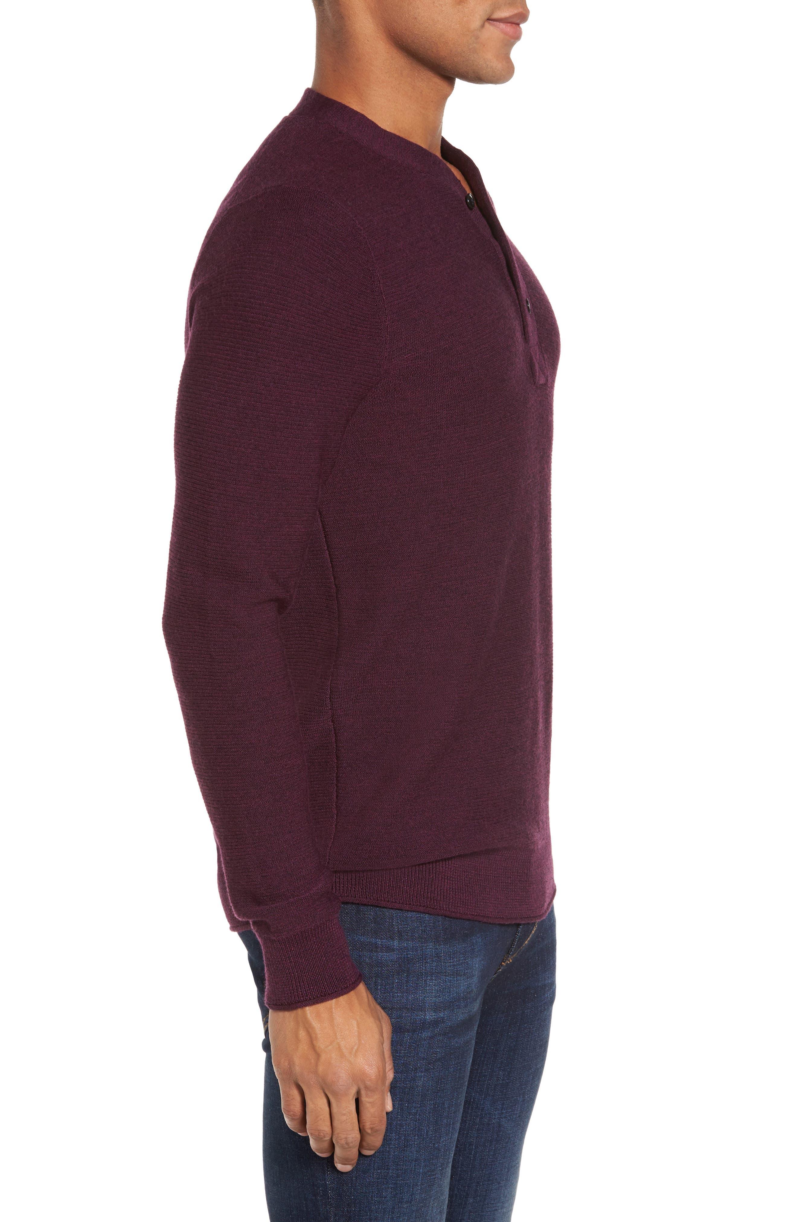 Alternate Image 3  - Bonobos Slim Fit Merino Long Sleeve Henley Sweater