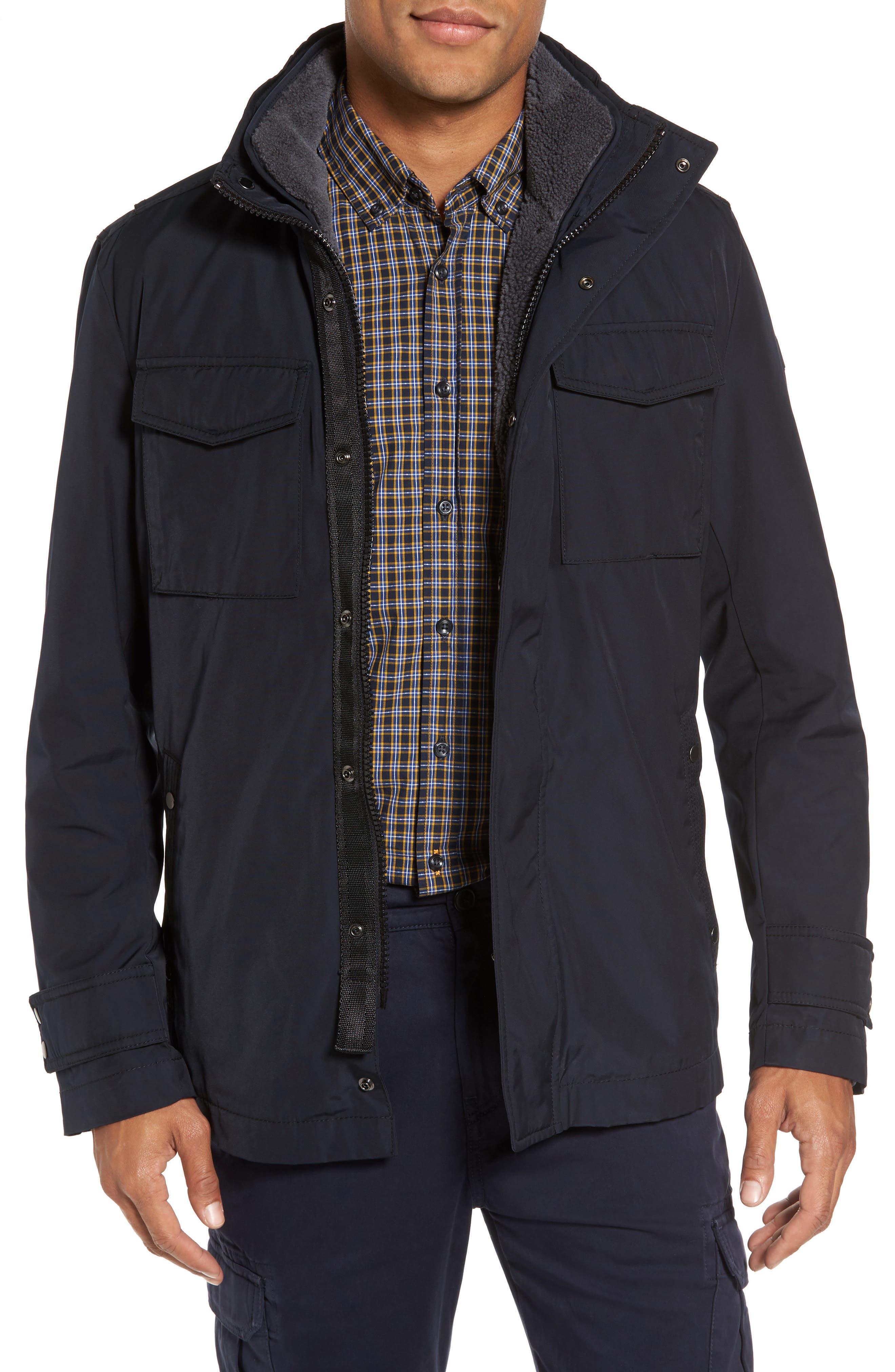 Onick Water Repellent 3-in-1 Field Jacket,                         Main,                         color, Black