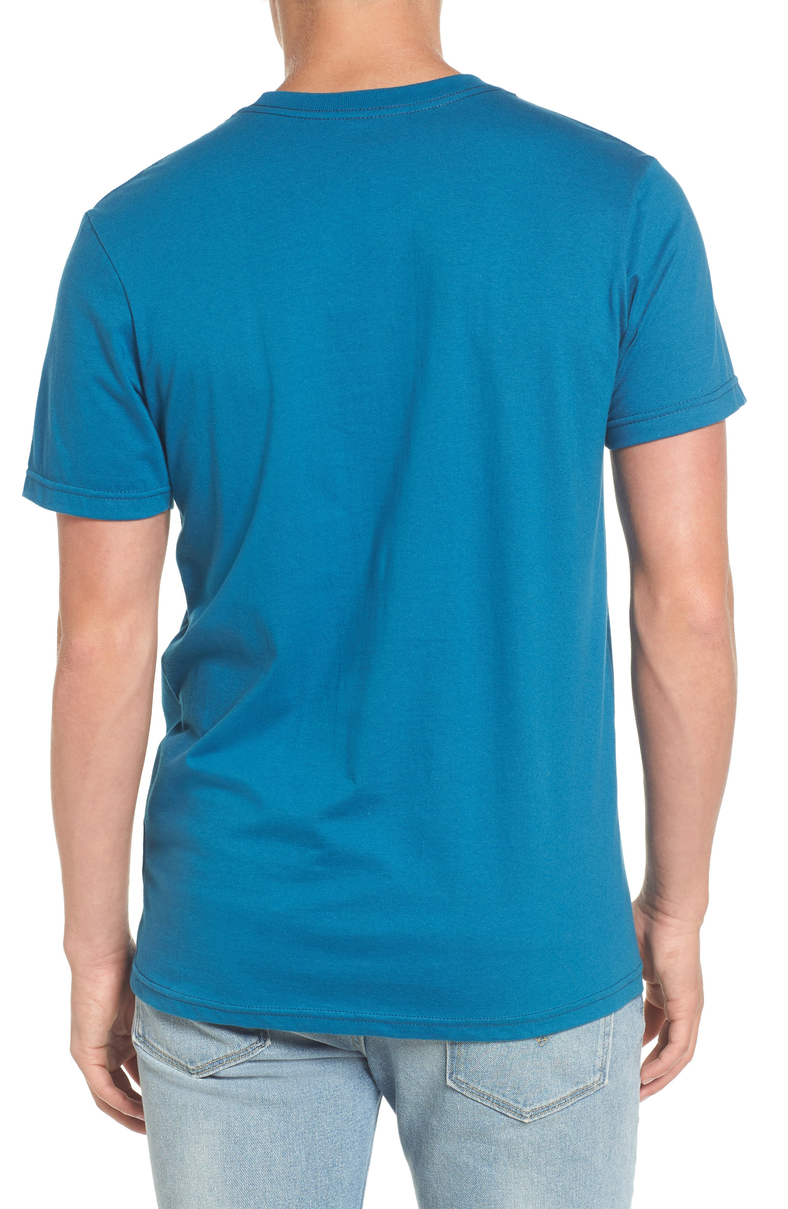 Nation 2 Graphic Pocket T-Shirt,                             Alternate thumbnail 2, color,                             Blue Tide
