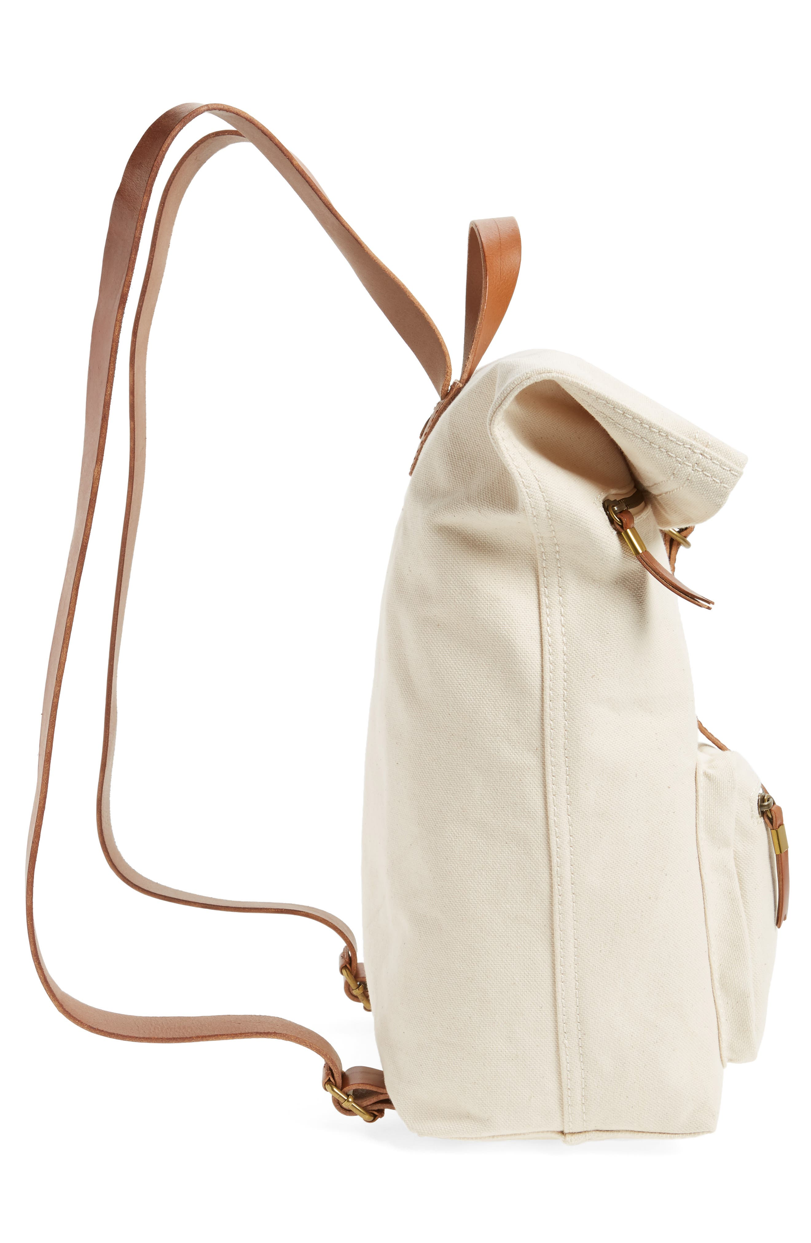 The Canvas Foldover Backpack,                             Alternate thumbnail 5, color,                             Vintage Canvas