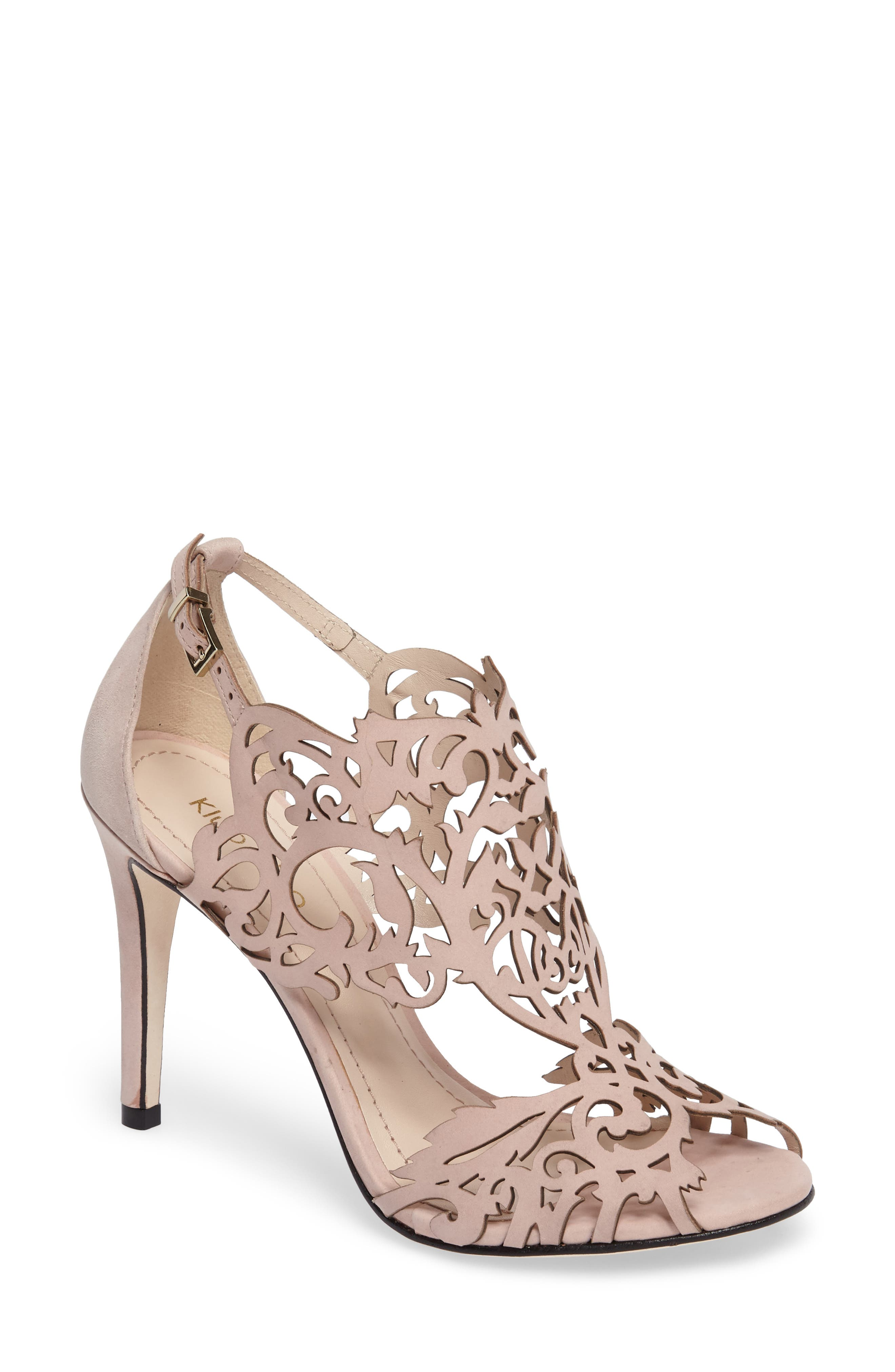 Marcela Laser Cutout Sandal,                             Main thumbnail 1, color,                             Blush Nubuck Leather
