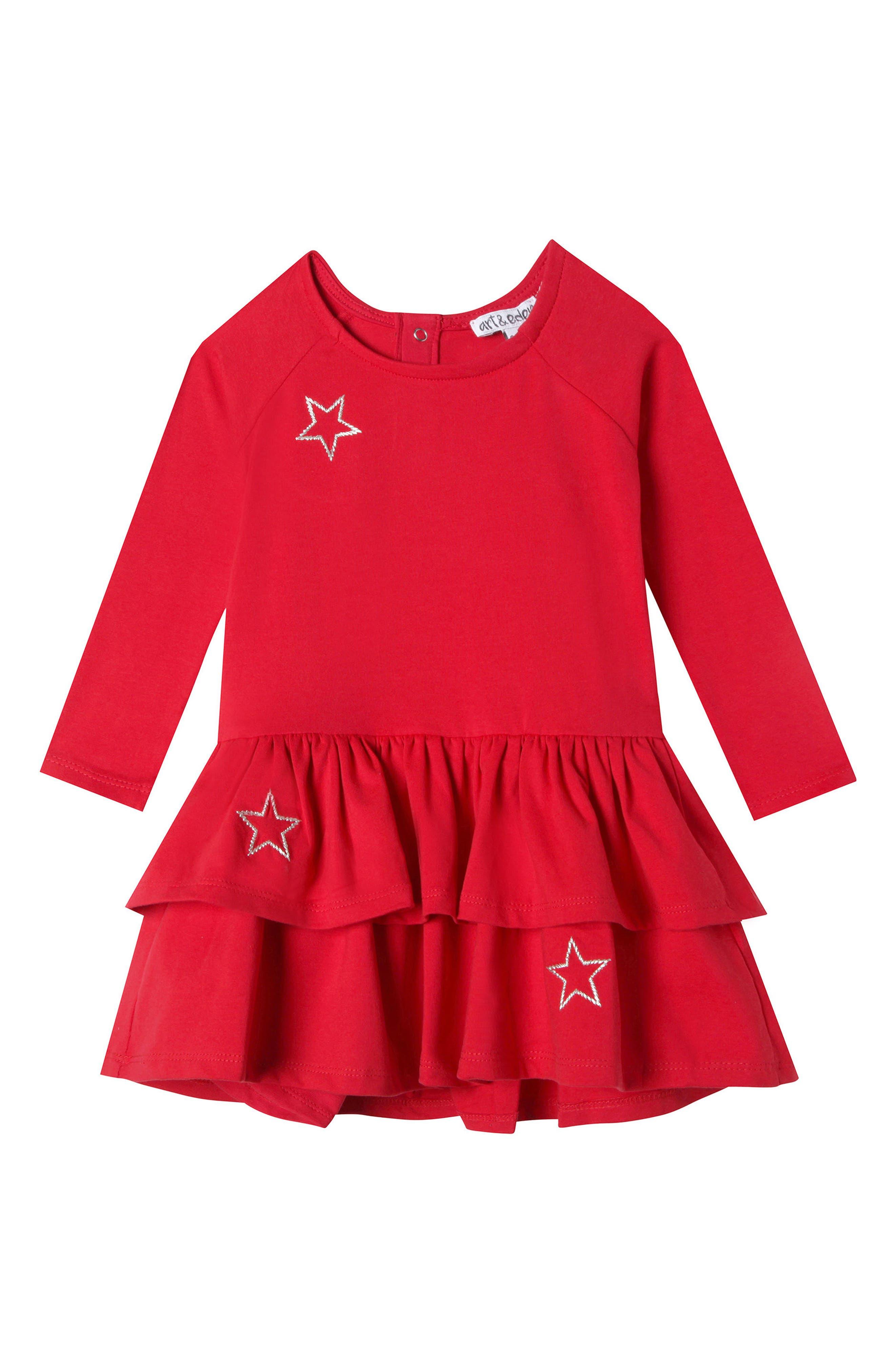 Main Image - Art & Eden Mini Elizabeth Ruffle Dress (Baby Girls)