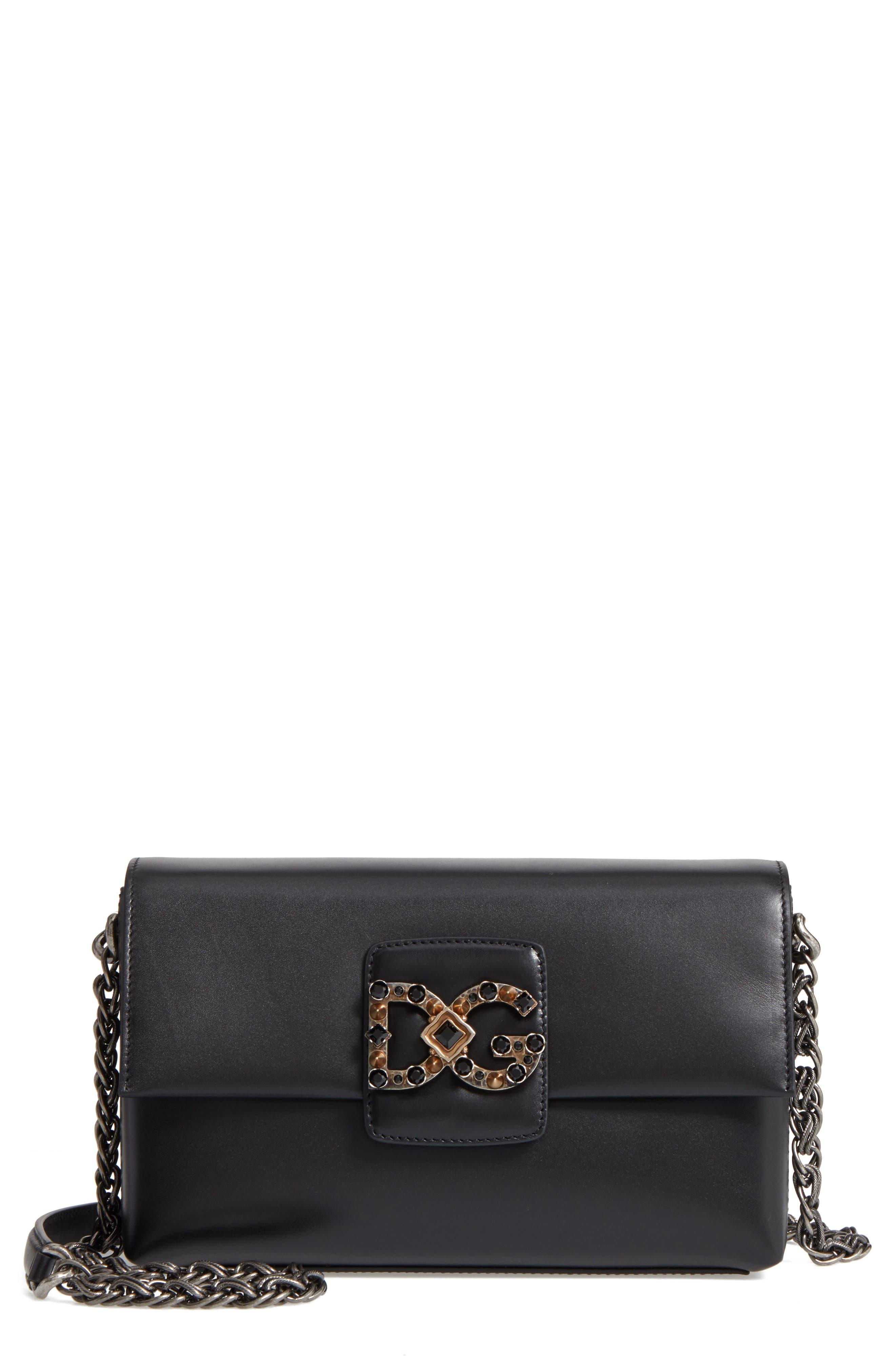 Dolce&Gabbana Medium Millennials Embossed Leather Shoulder Bag