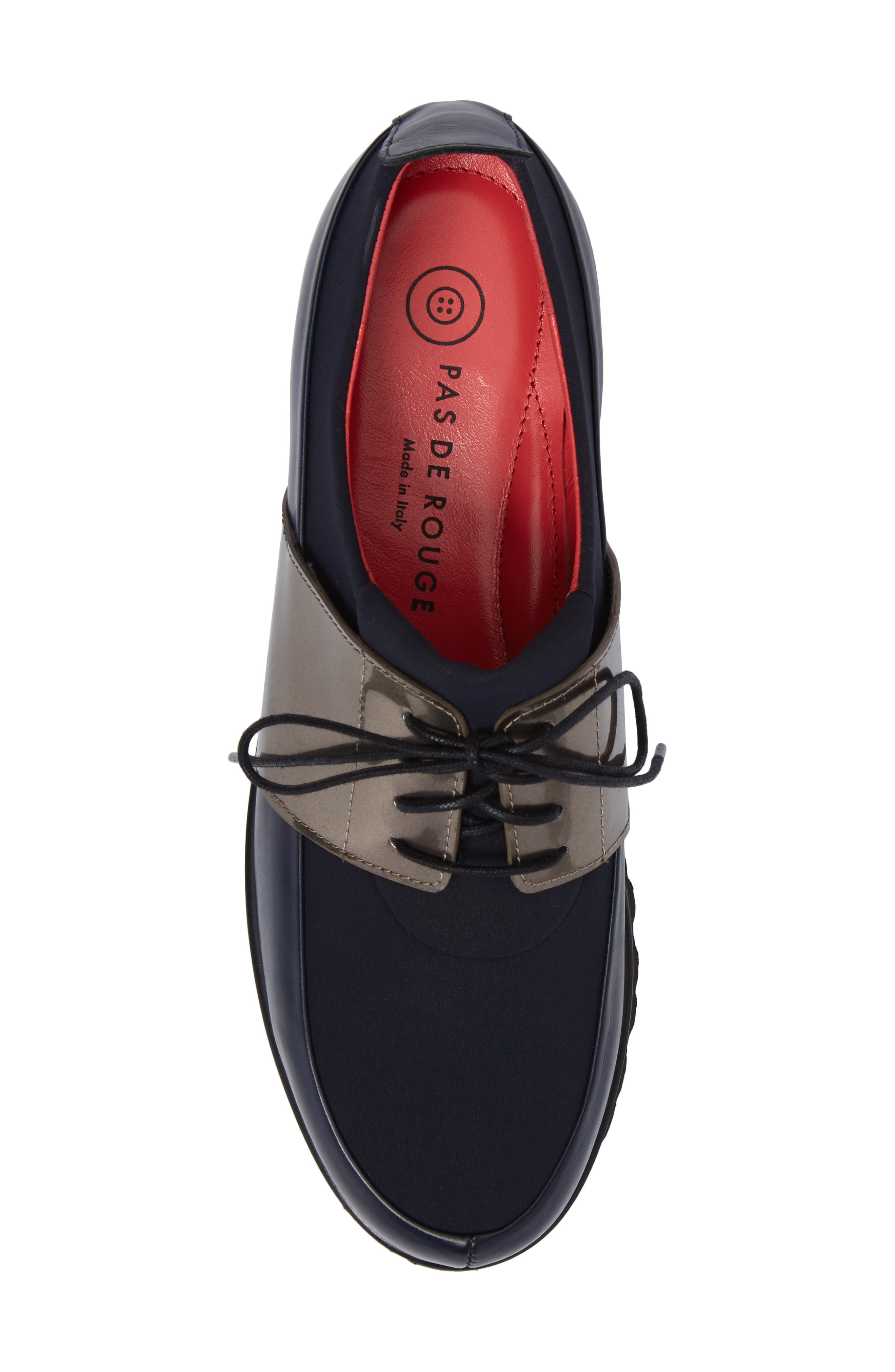 Lace-Up Oxford,                             Alternate thumbnail 5, color,                             Ink Leather