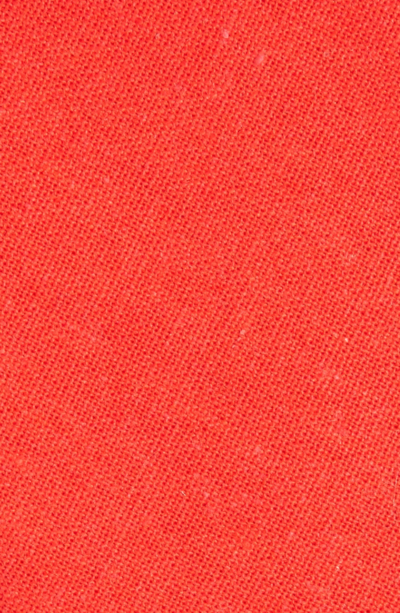 Solid Linen & Cotton Tie,                             Alternate thumbnail 2, color,                             Red