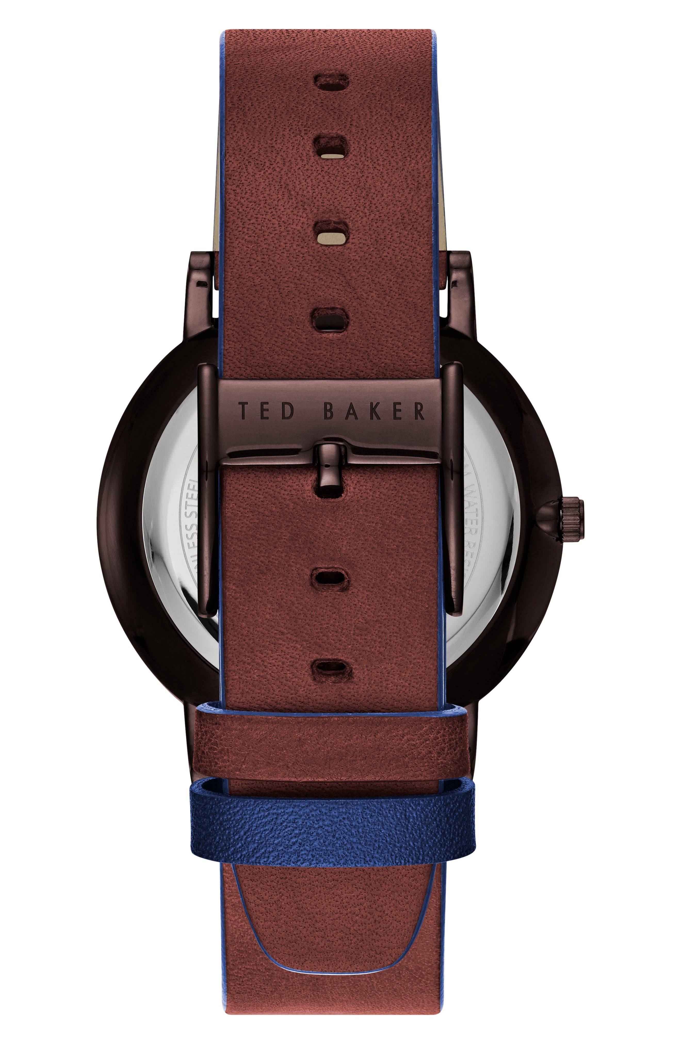 Alternate Image 2  - Ted Baker London Dean Leather Strap Watch, 40mm