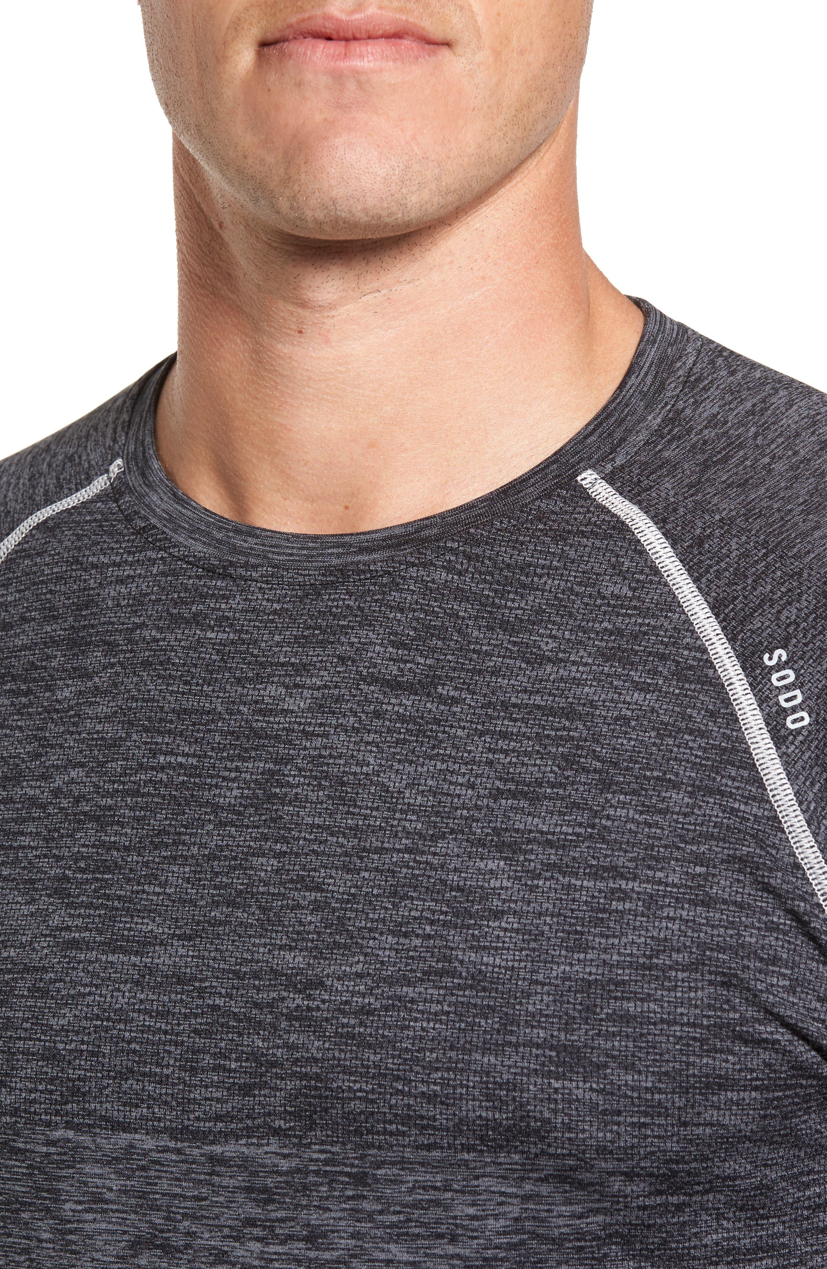 Alternate Image 4  - SODO Seamless Crewneck Performance T-Shirt