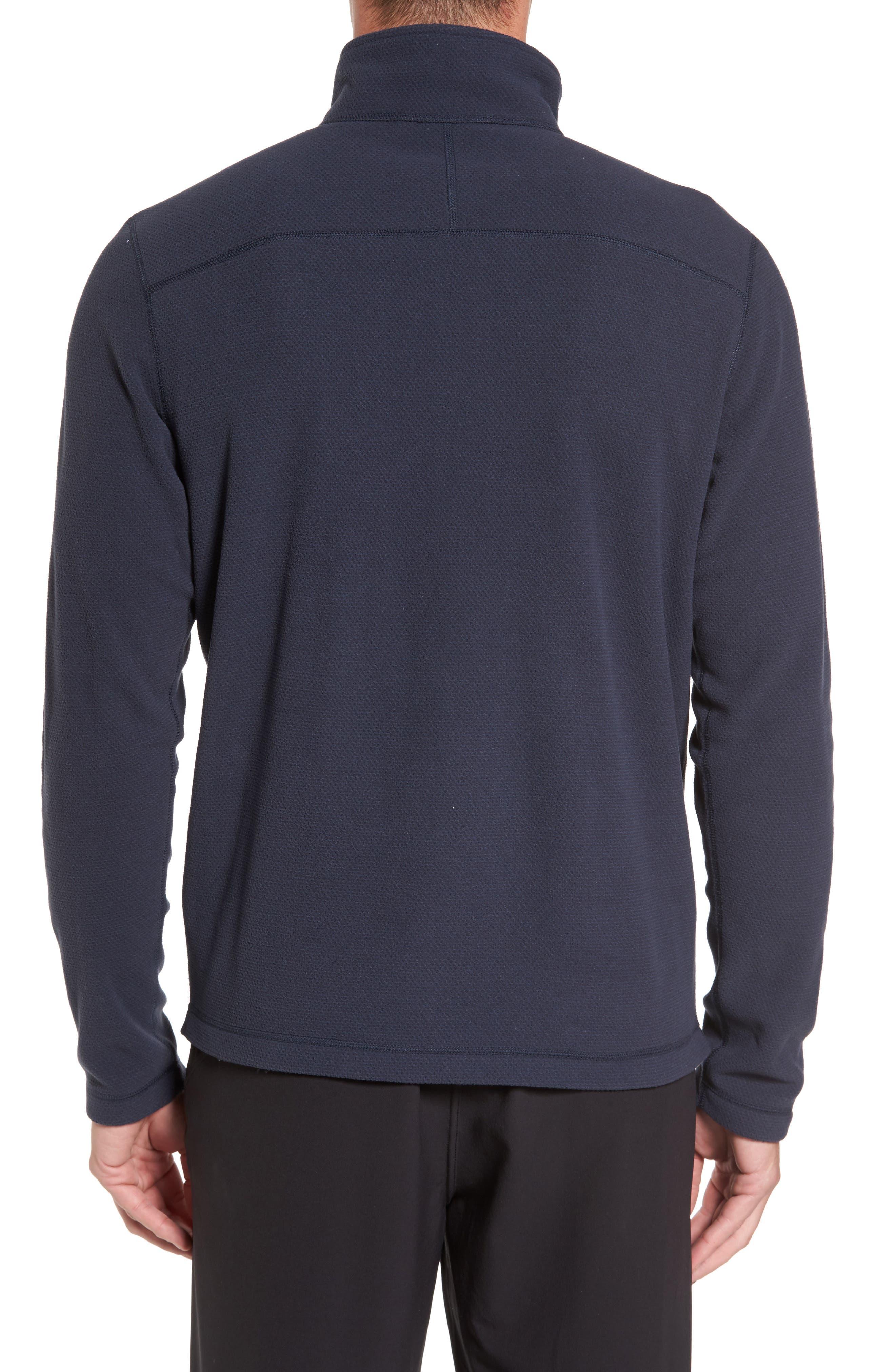 Texture Cap Rock Quarter Zip Fleece Jacket,                             Alternate thumbnail 2, color,                             Urban Navy Texture