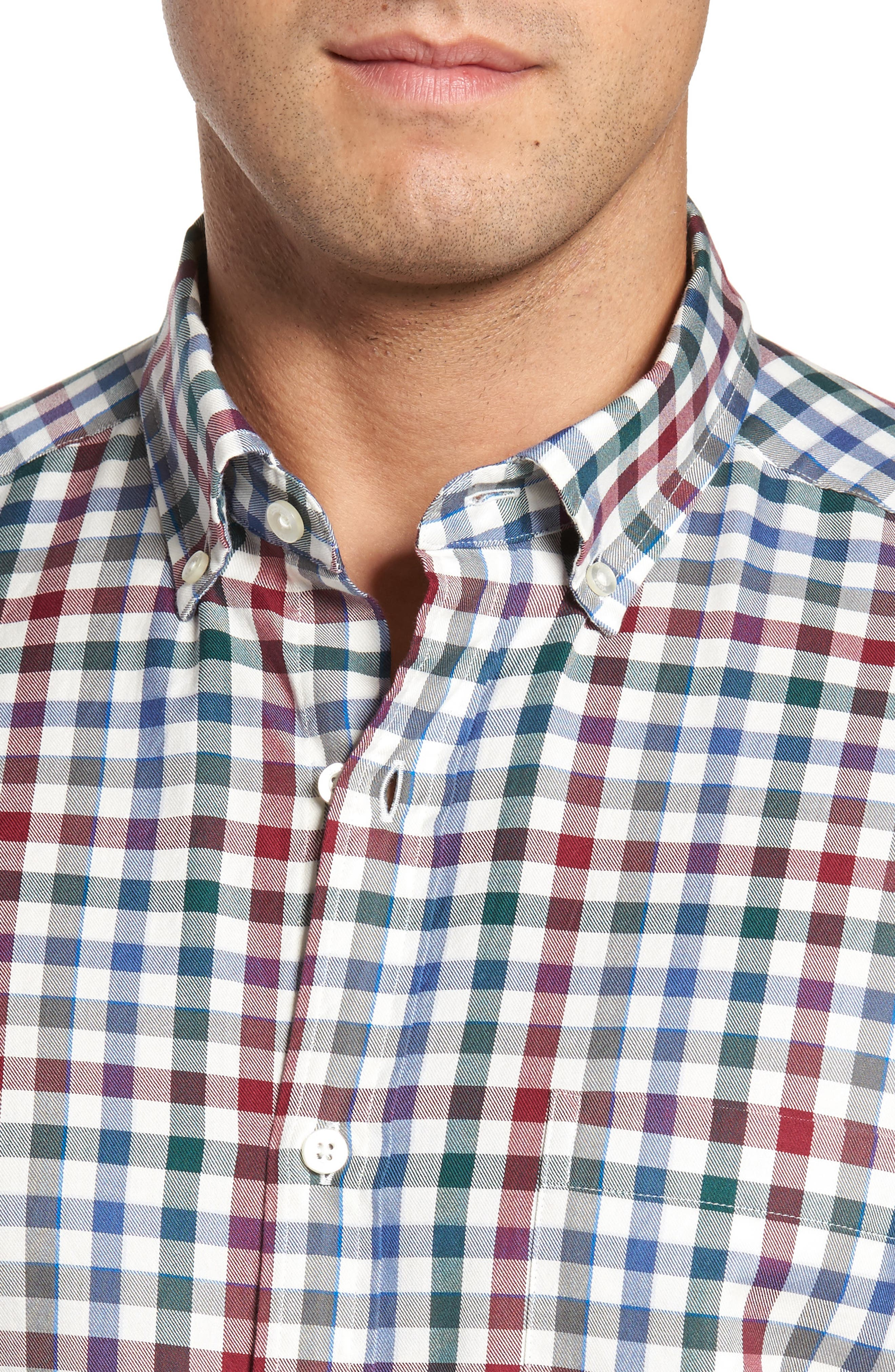 Alternate Image 4  - vineyard vines Classic Fit Murray Tin House Check Sport Shirt