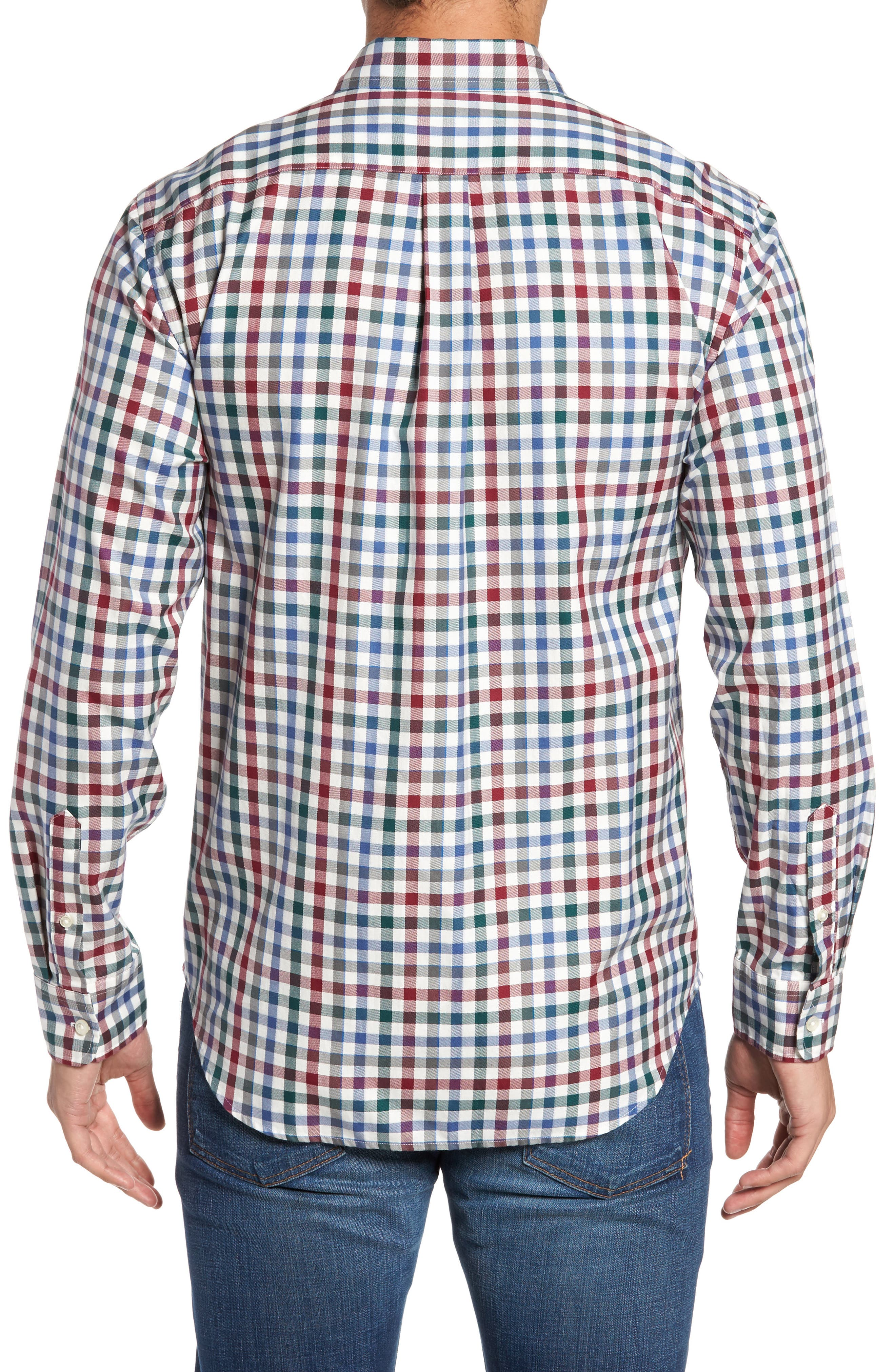 Alternate Image 2  - vineyard vines Classic Fit Murray Tin House Check Sport Shirt