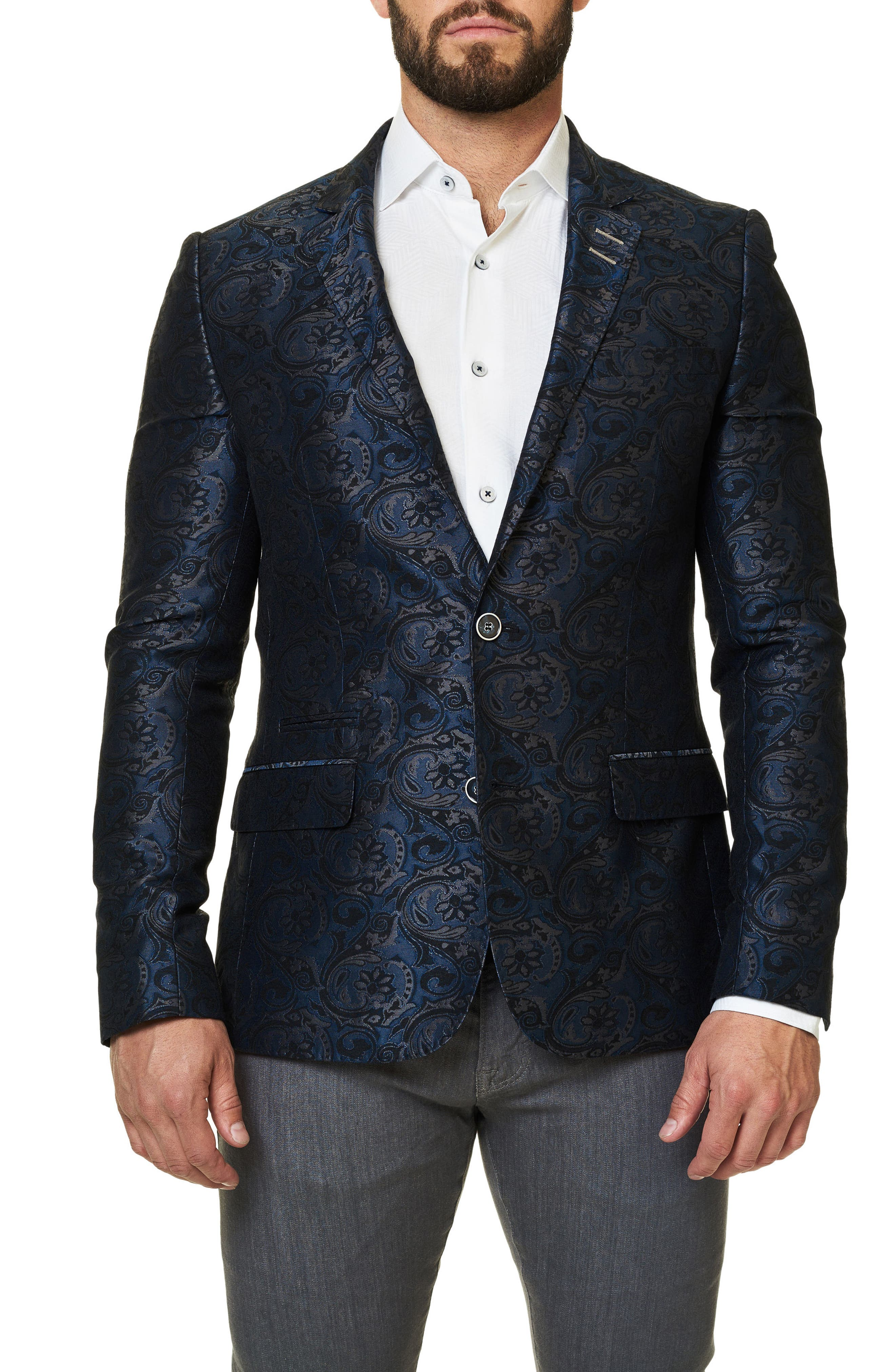 Alternate Image 1 Selected - Maceoo Socrate Paisley Brocade Sport Coat