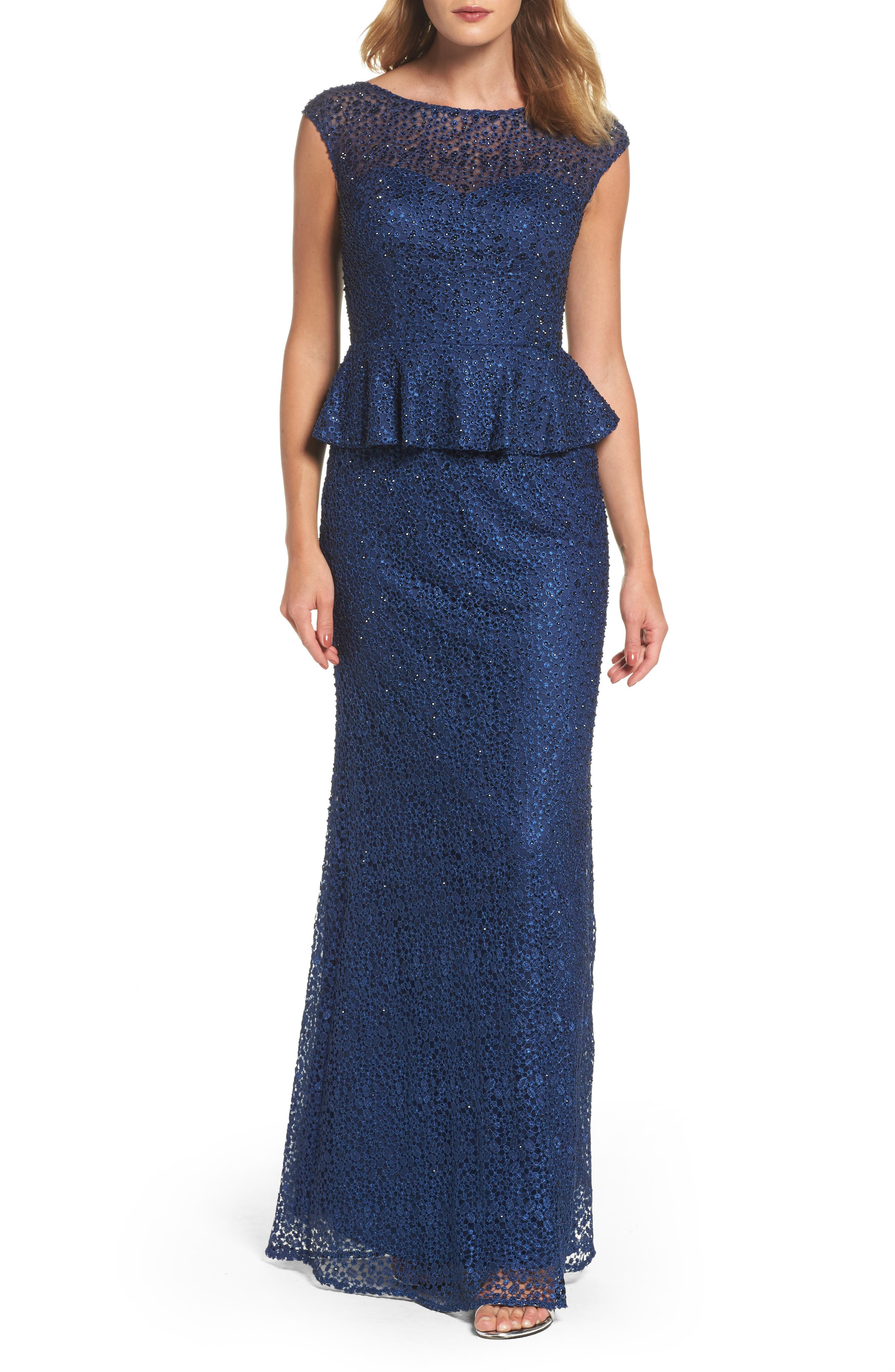 Cerulean Blue Mother of the Bride Dresses