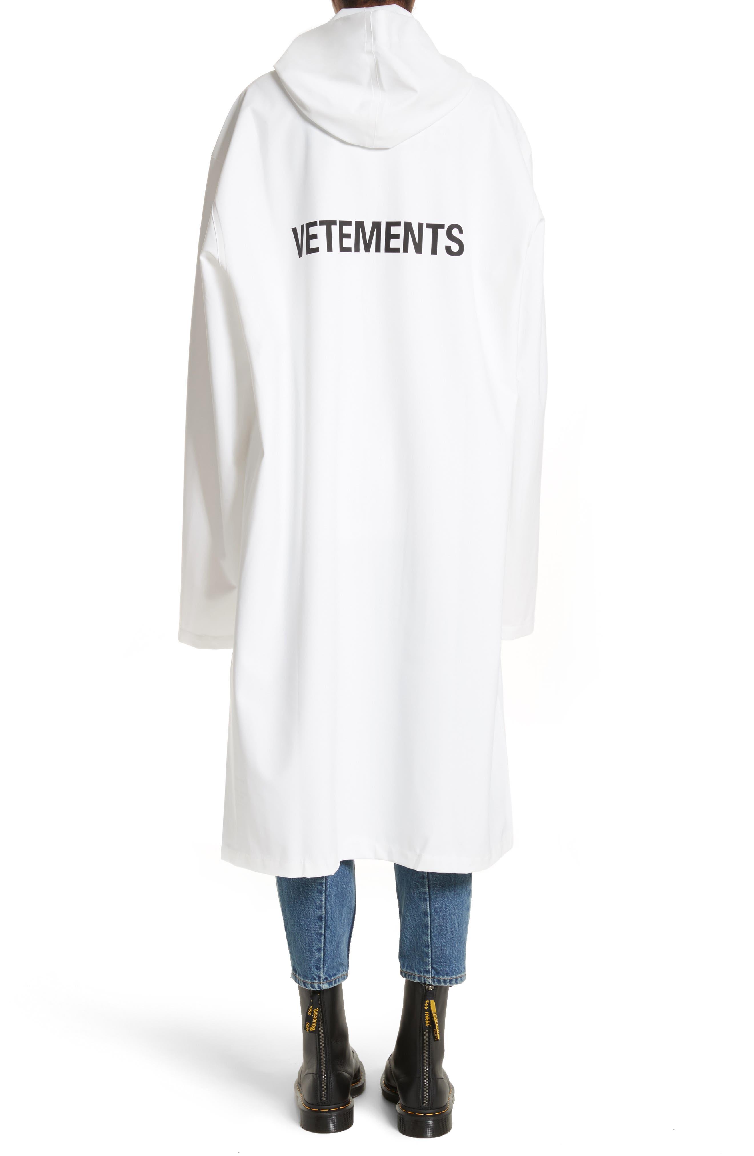 Logo Raincoat,                         Main,                         color, White