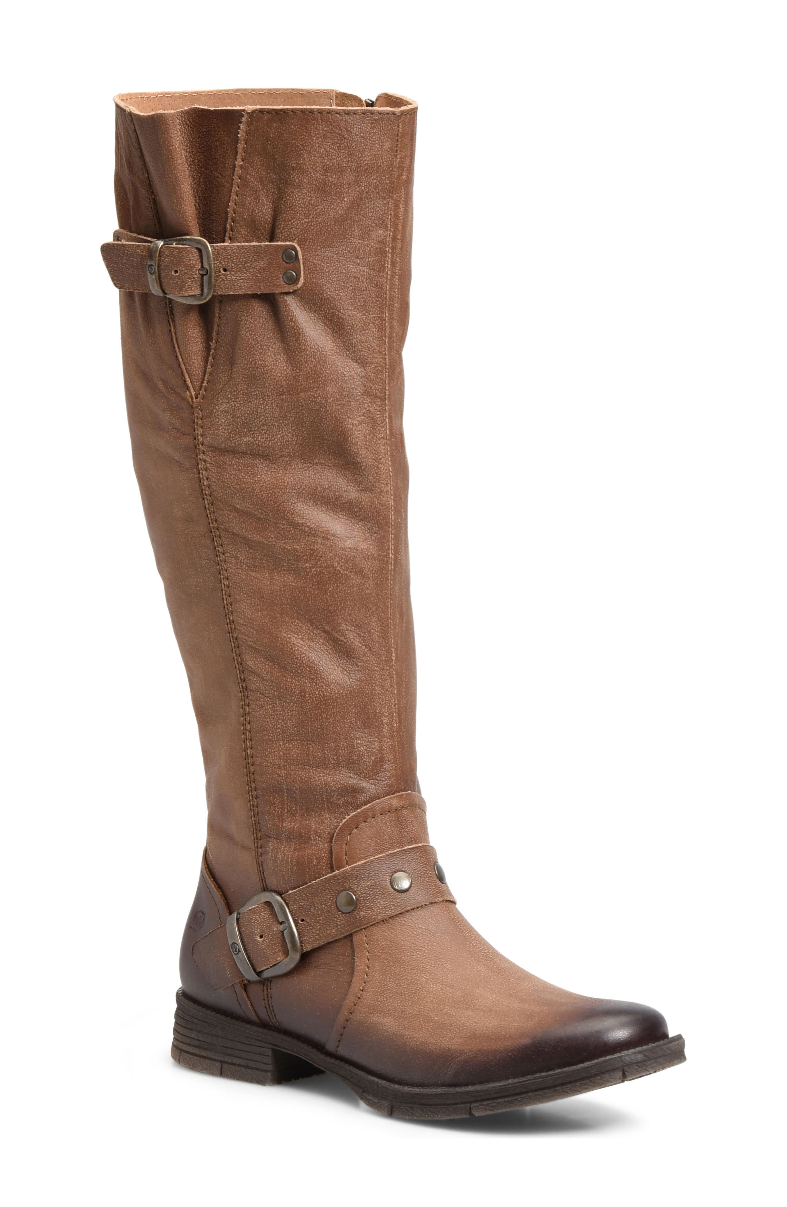Ashland Knee High Boot,                             Main thumbnail 1, color,                             Brown Leather