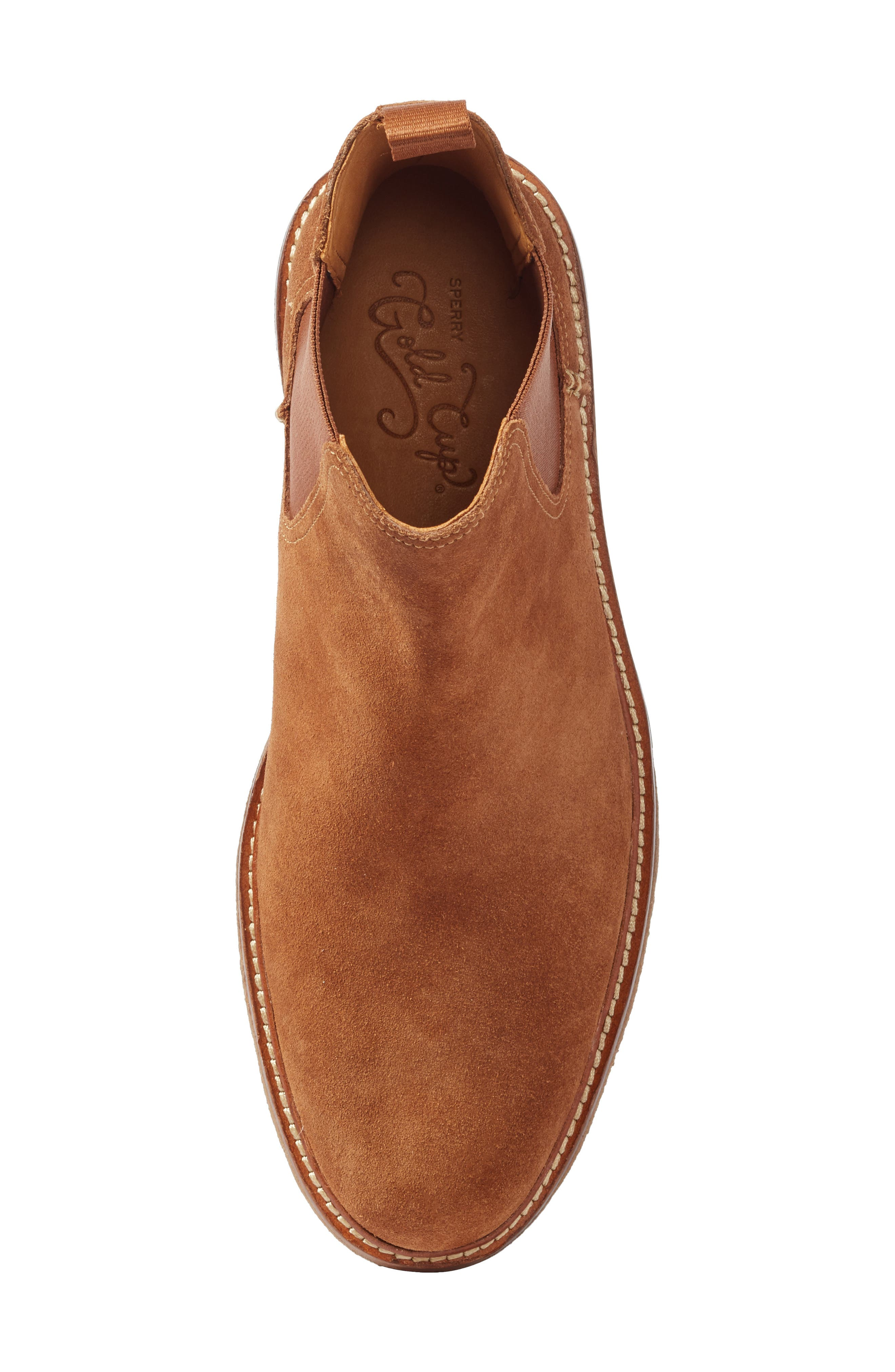 Leather Chelsea Boot,                             Alternate thumbnail 5, color,                             Dark Snuff Leather